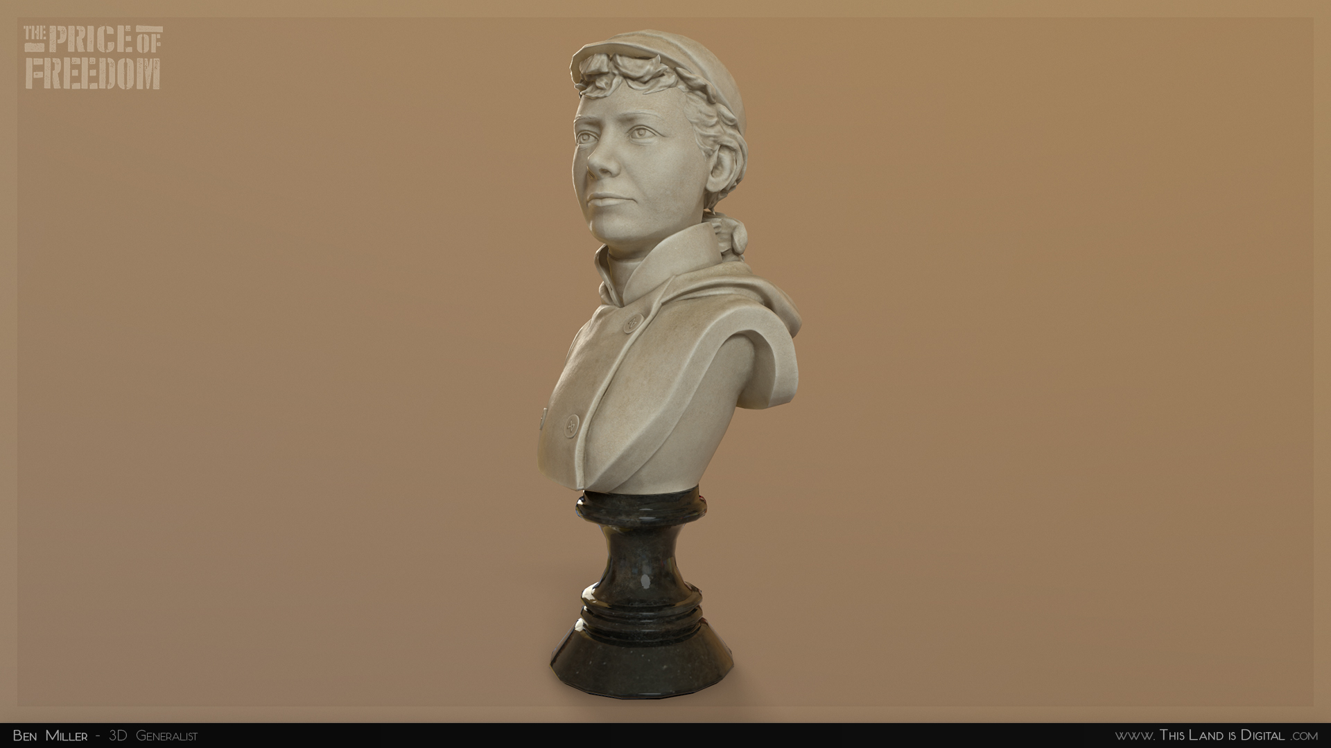 This is a sculpture bust of Nellie Bly, a nice lady who did some stuff.    You can make these comments hover over the image, which is useful, and you could even enable lightbox for them.