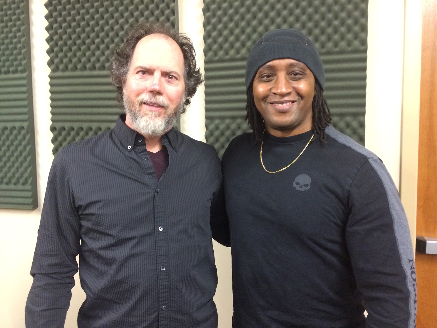 Leon Christian with Andrew York at Ted Brown Music for the International Guitar Night