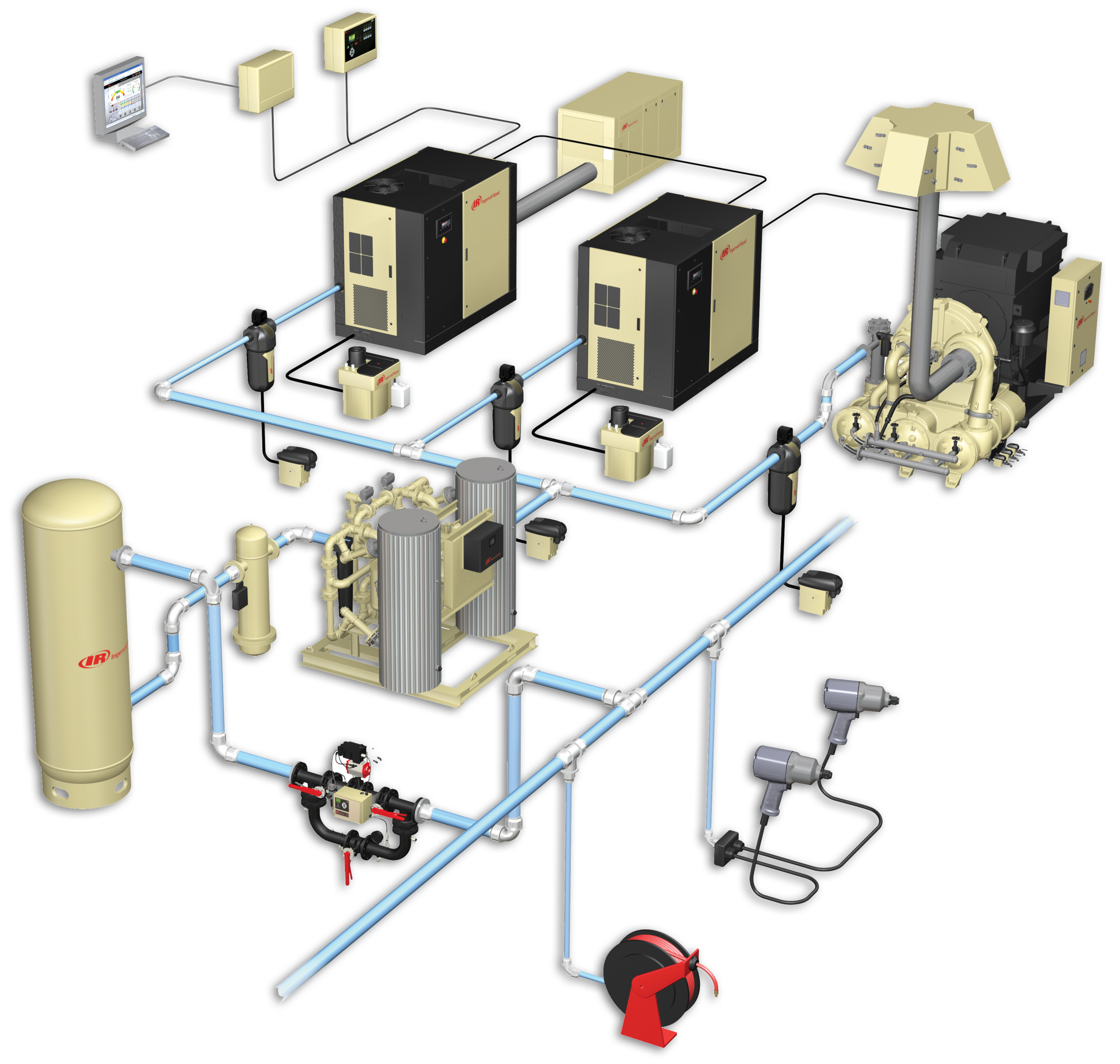 Compressed air system components.