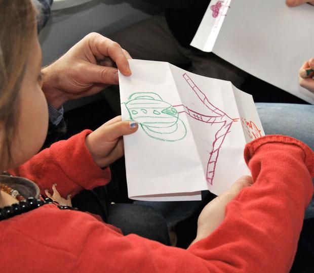 Kinder Papier Zeichnen
