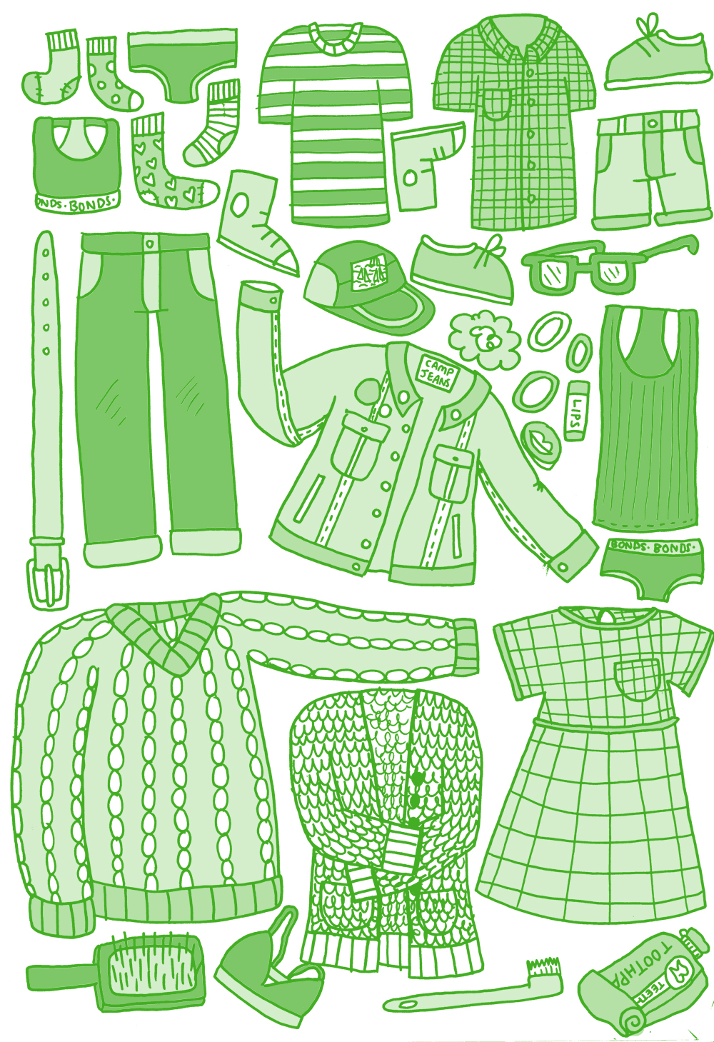 Clothes for my Burrow adventure.