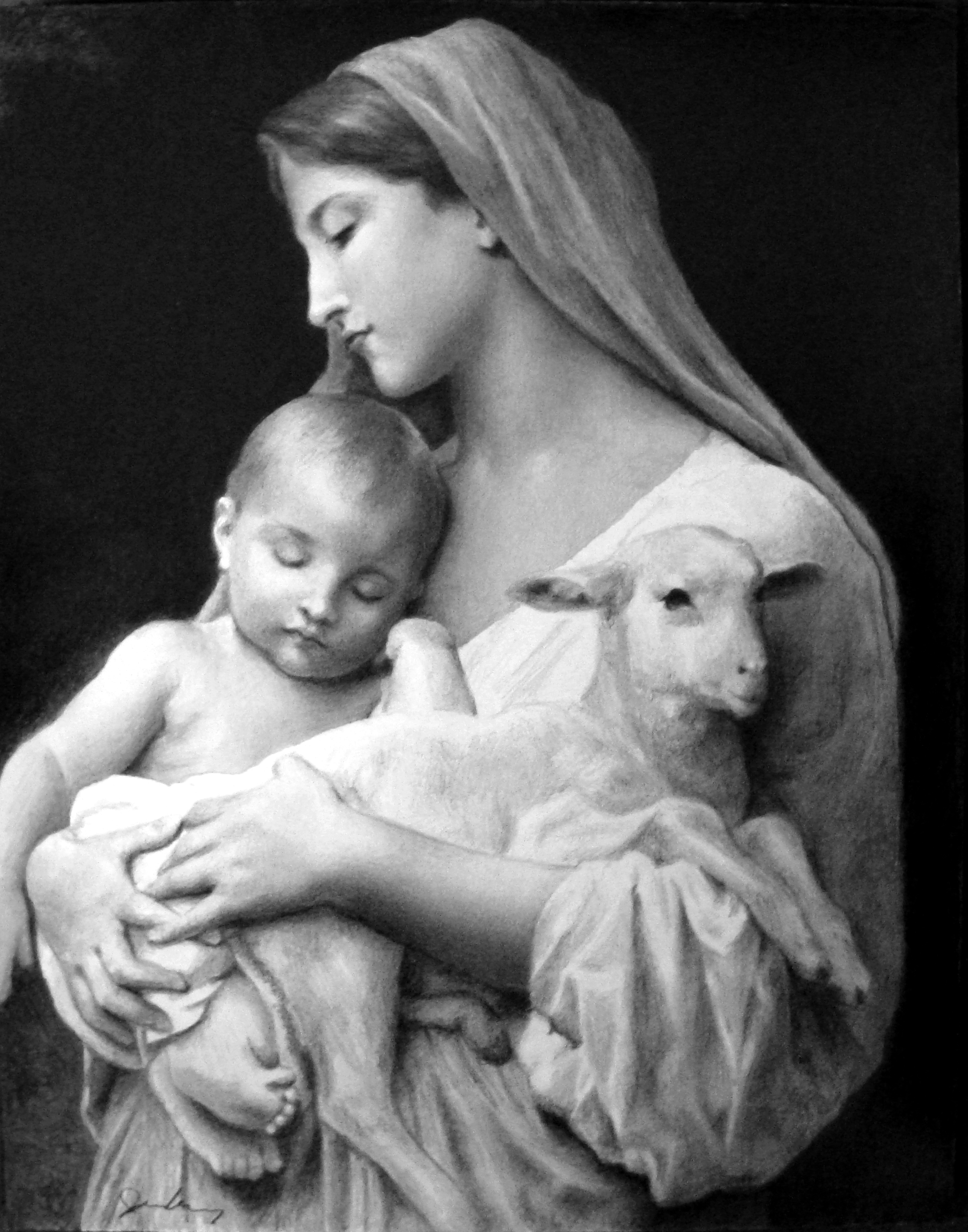 """Reproduction of """"Innocence"""" by William Bouguereau"""
