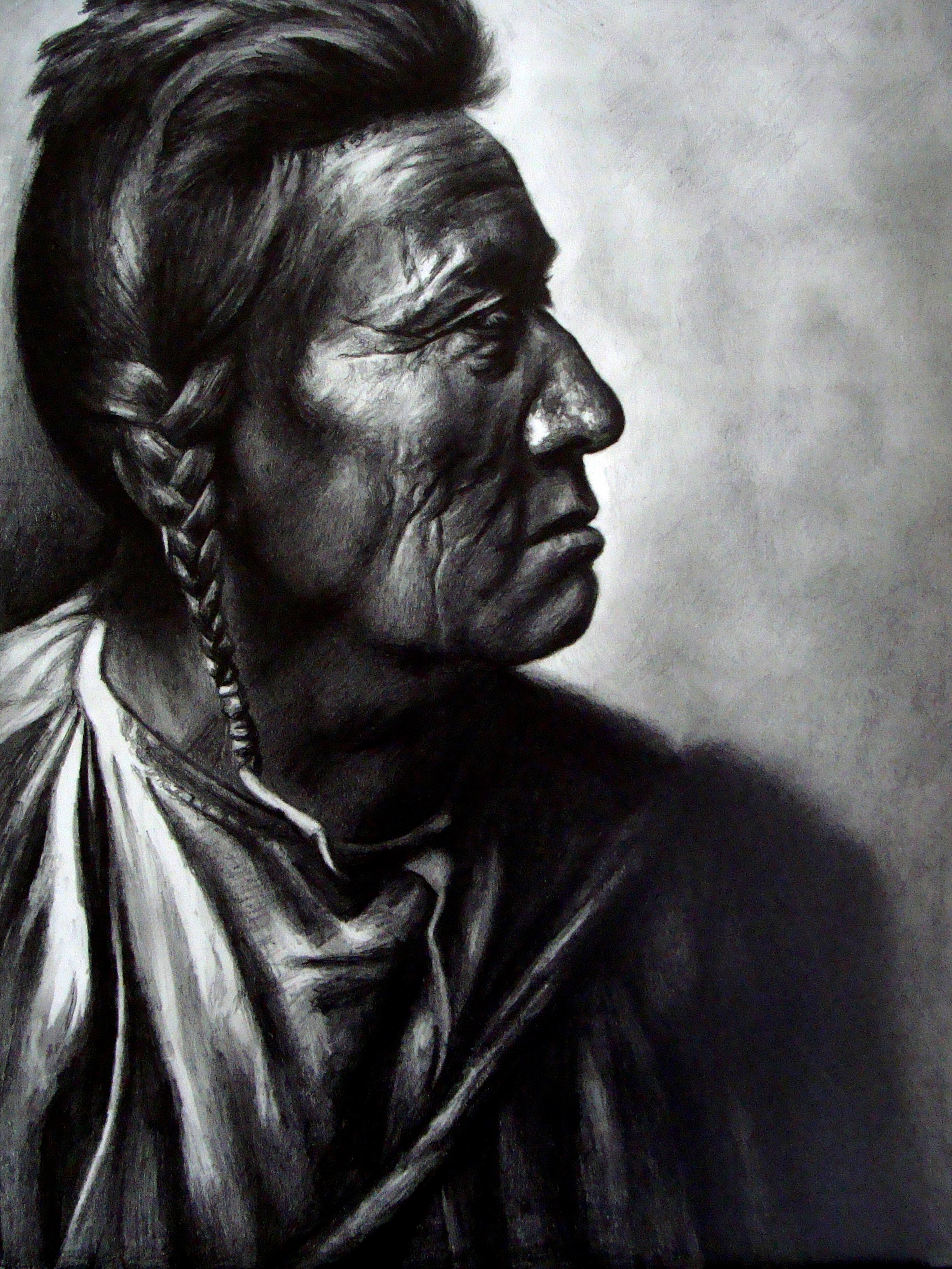 Flathead Woman (from a photo by Edward S. Curtis)
