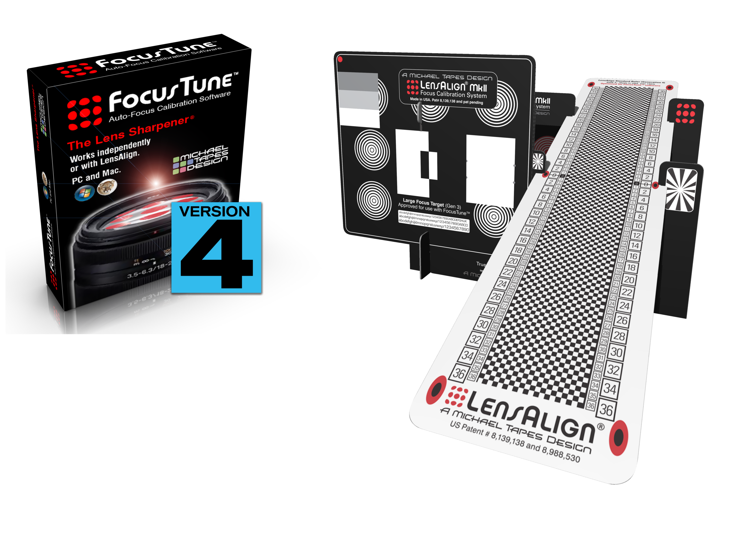 Includes LensAlign MkIi Generation 4 & FocusTune V4 download link with Activation Serial#
