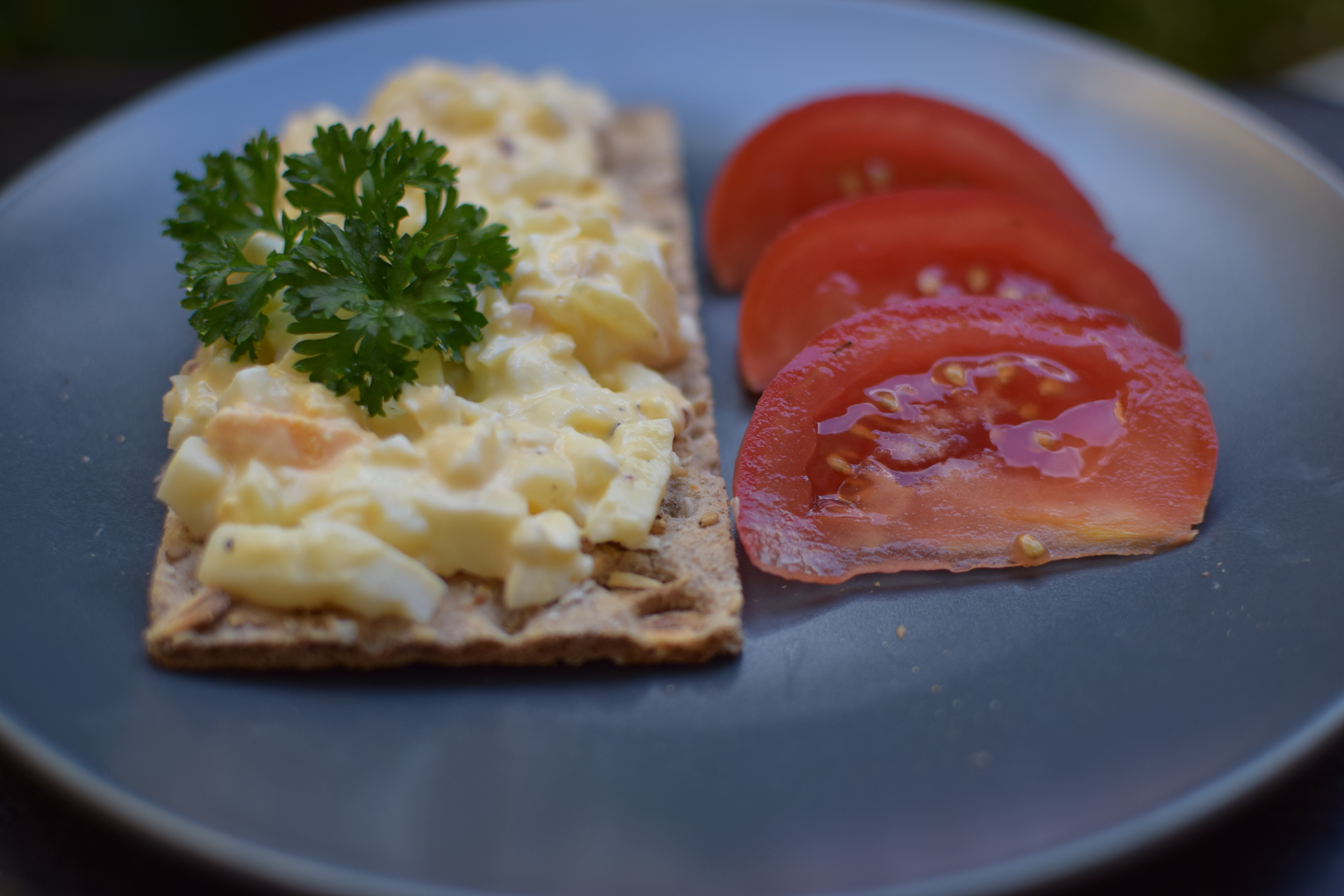 Domácí vajíčková pomazánka - s cottage sýrem.