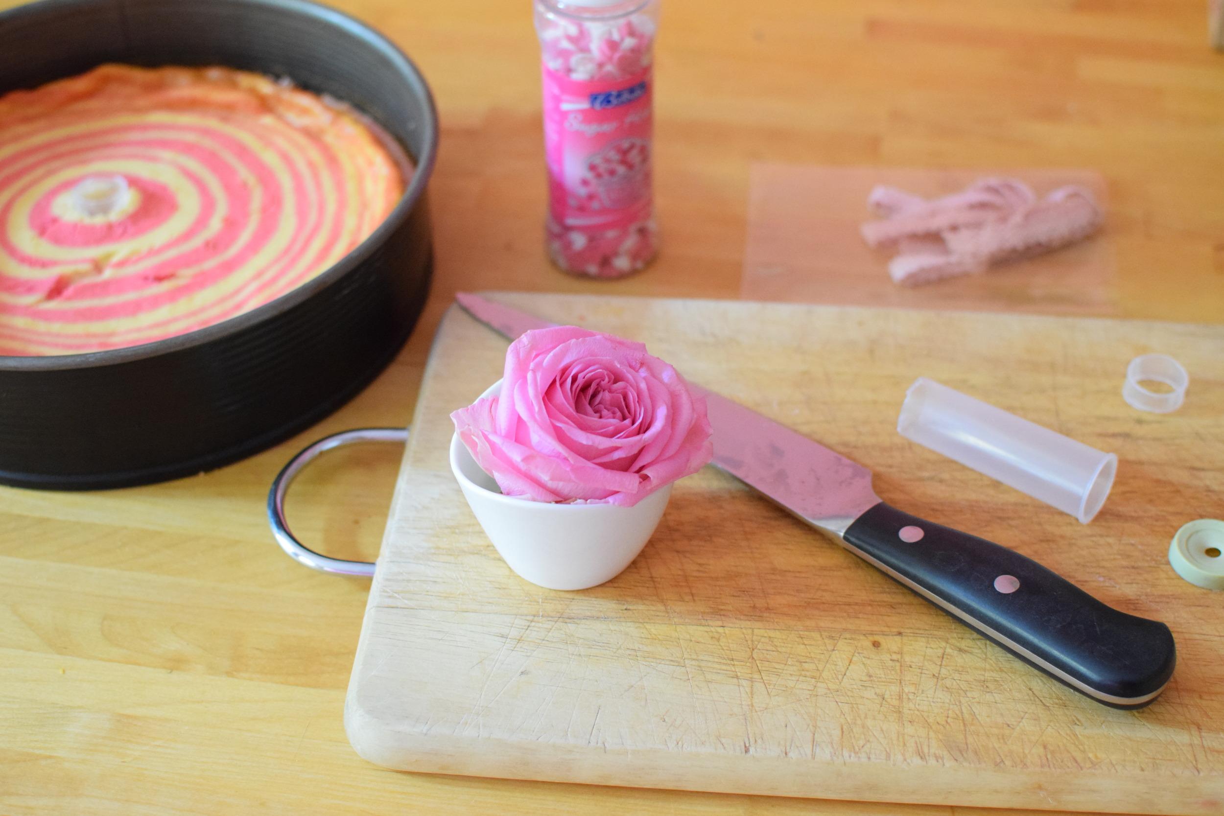 O tom, jak jsem se během pečení dala do úklidu a na dort zapomněla, proto popraskal, si povíme jindy... :)