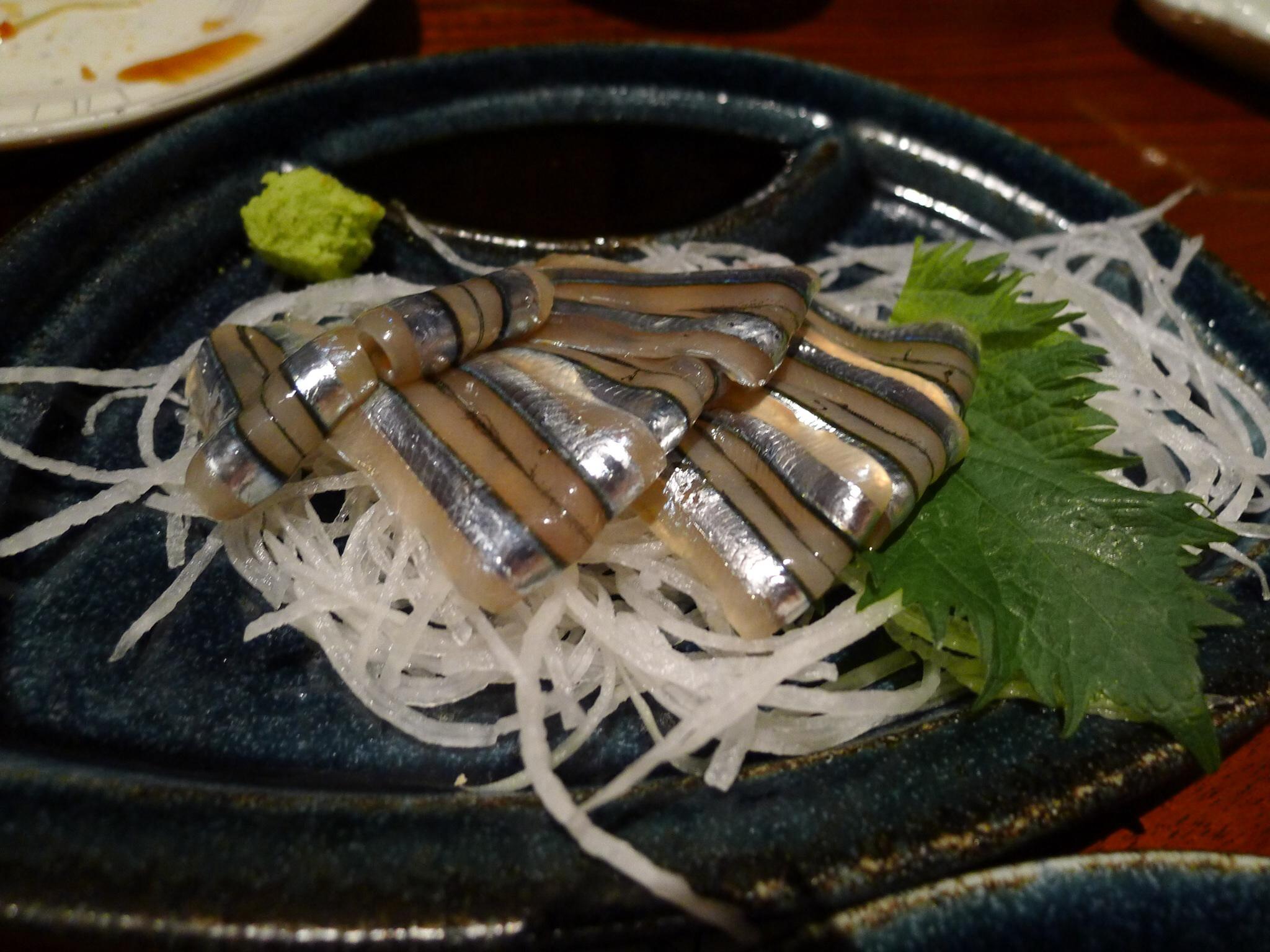 opět sashimi -šproty