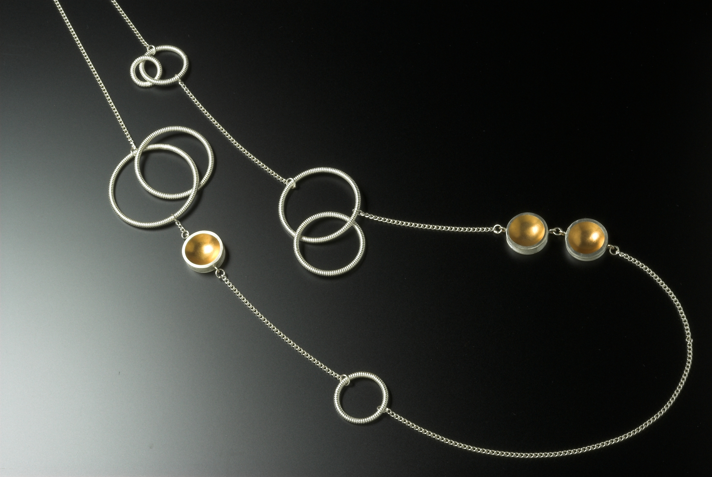 Silver and gold plate necklace £420 @100cm long