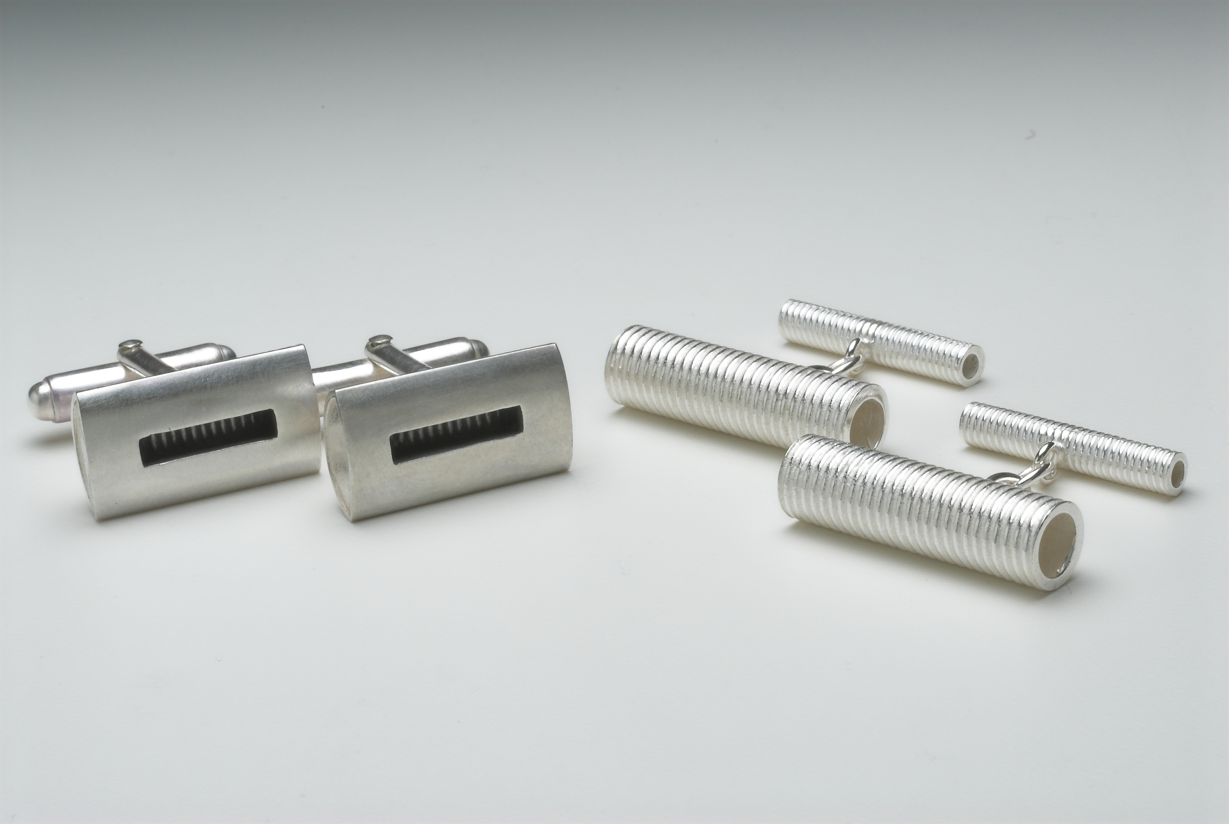 Silver cufflinks £95 each. Available in the  online shop