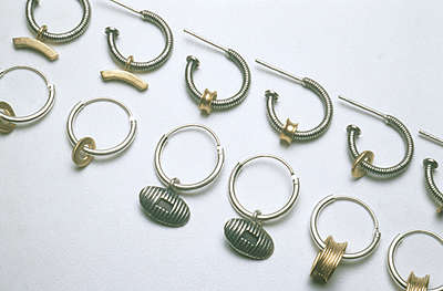 6. Range of hoops silver and gold plate £60-£75. Some available to buy now in the  shop .