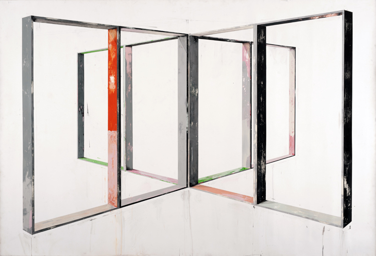 Manuel CaeiroMirror 1 2010 acrylic on canvas 200 by 293 cm 78.7 by 115.4 in.