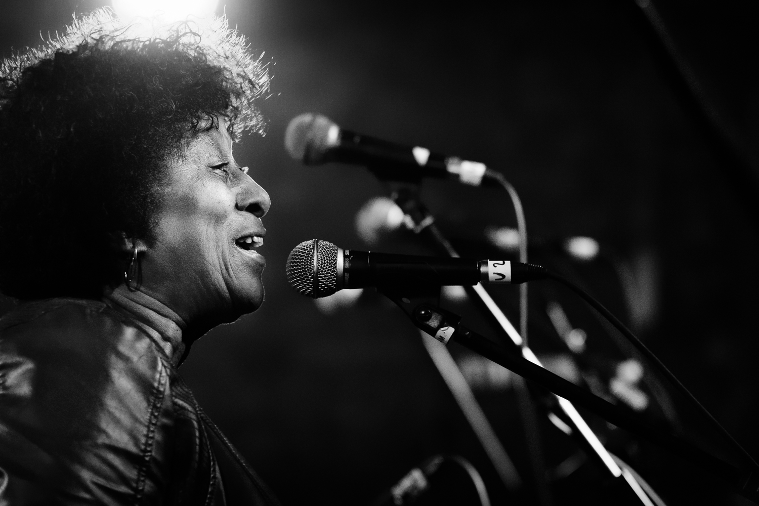 Doreen Shaffer (The Skatalites) at YAAM Berlin in April 2014_by