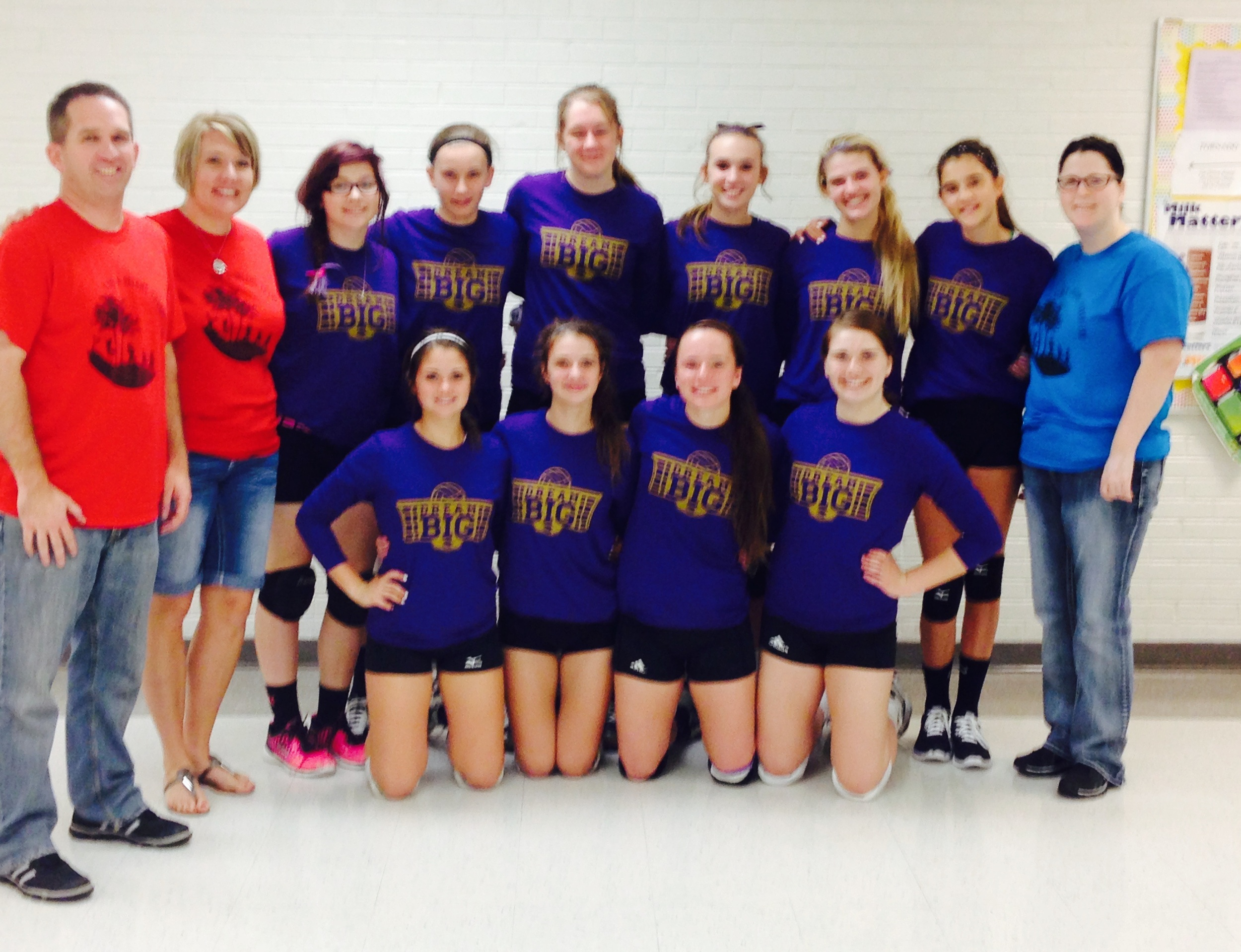 """Louisville High School """"Awareness Outing"""" during the volleyball season in 2014!"""