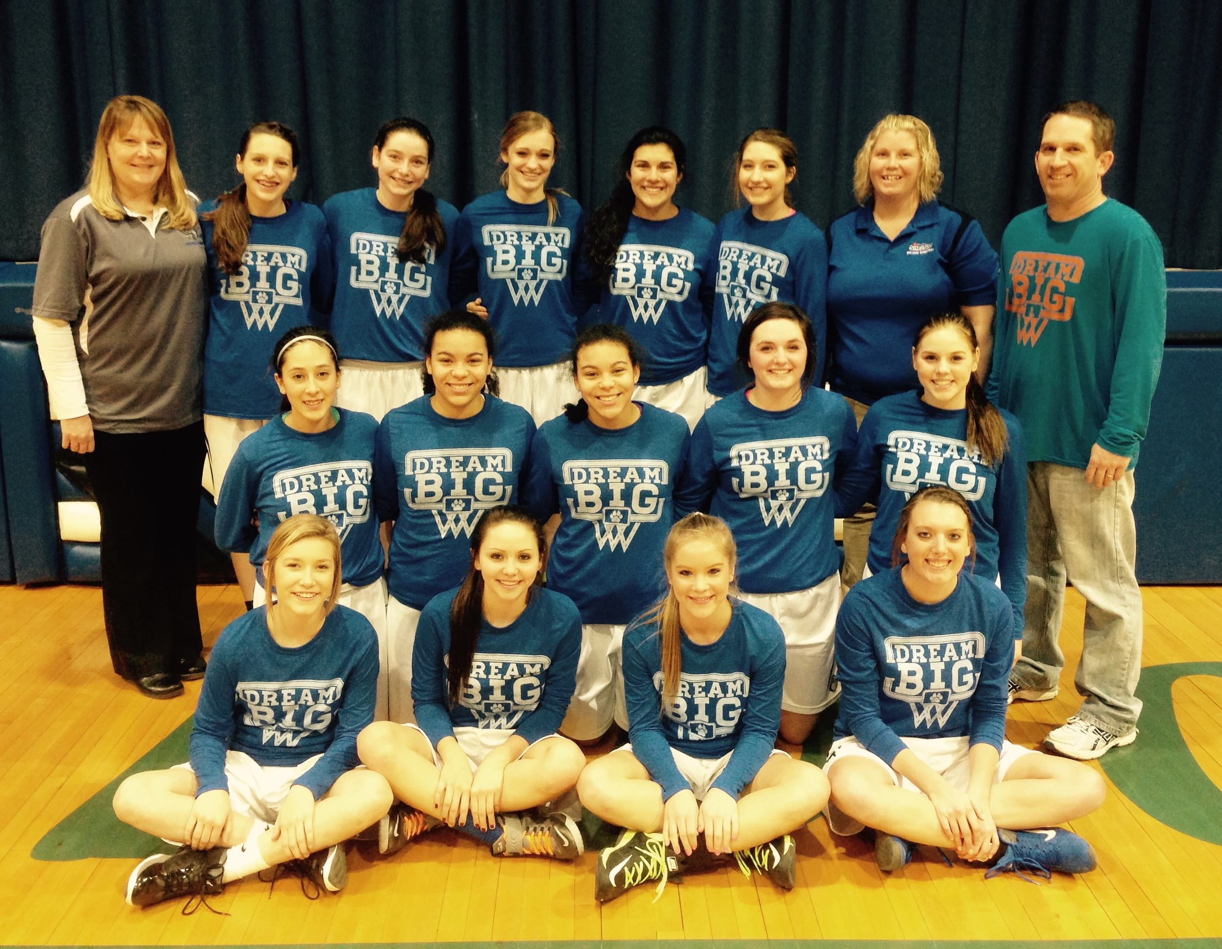 """The Shelton Lady Bulldogs helped us spread the word all season by wearing our """"Dream Big"""" shirts. Thank you so much! We really appreciate it! Go Bulldogs!"""