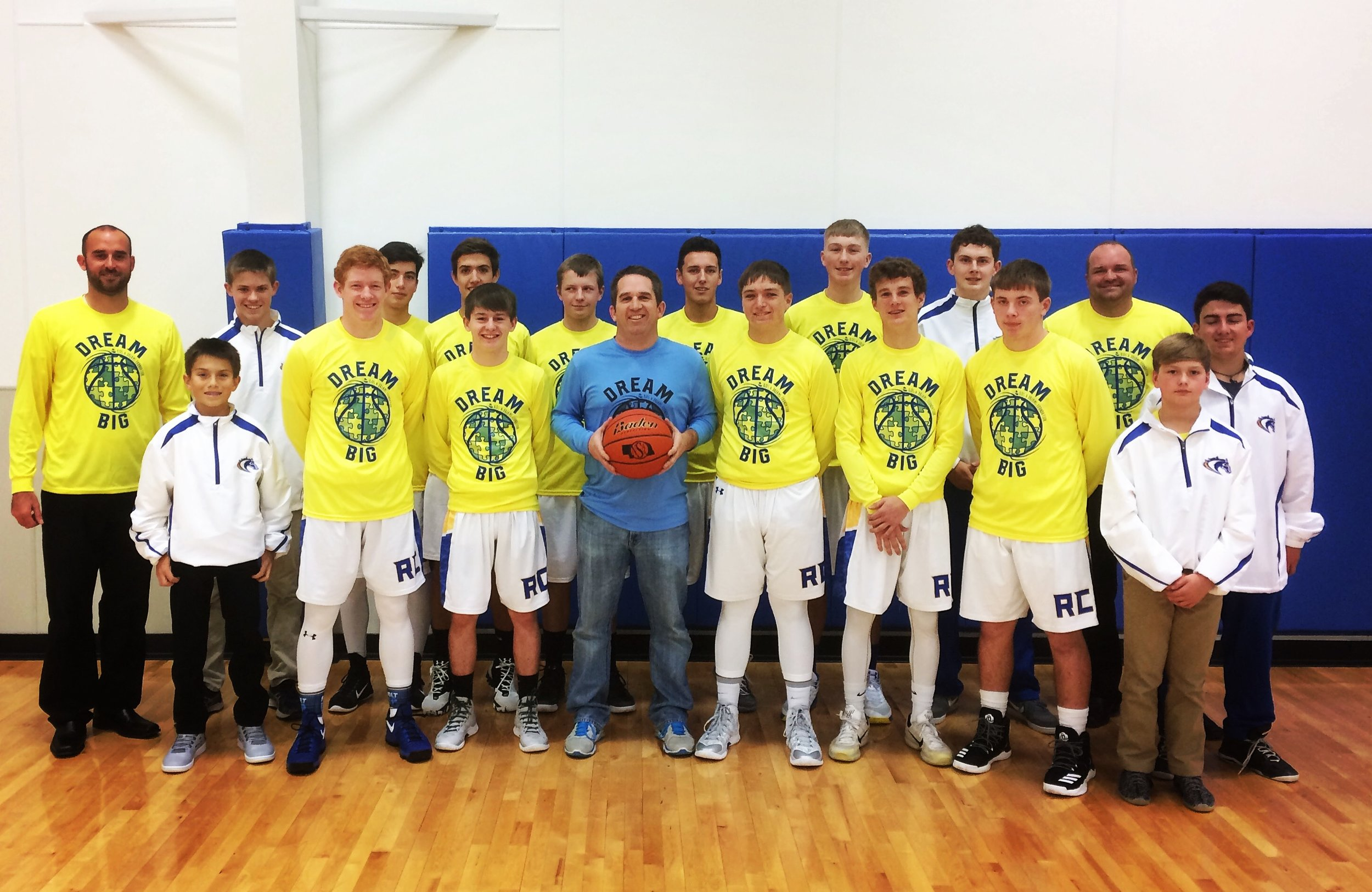 """Riverside Chargers """"Dream Big"""" Awareness Outing-Love the bright yellow & blue shirts! Go Chargers!"""