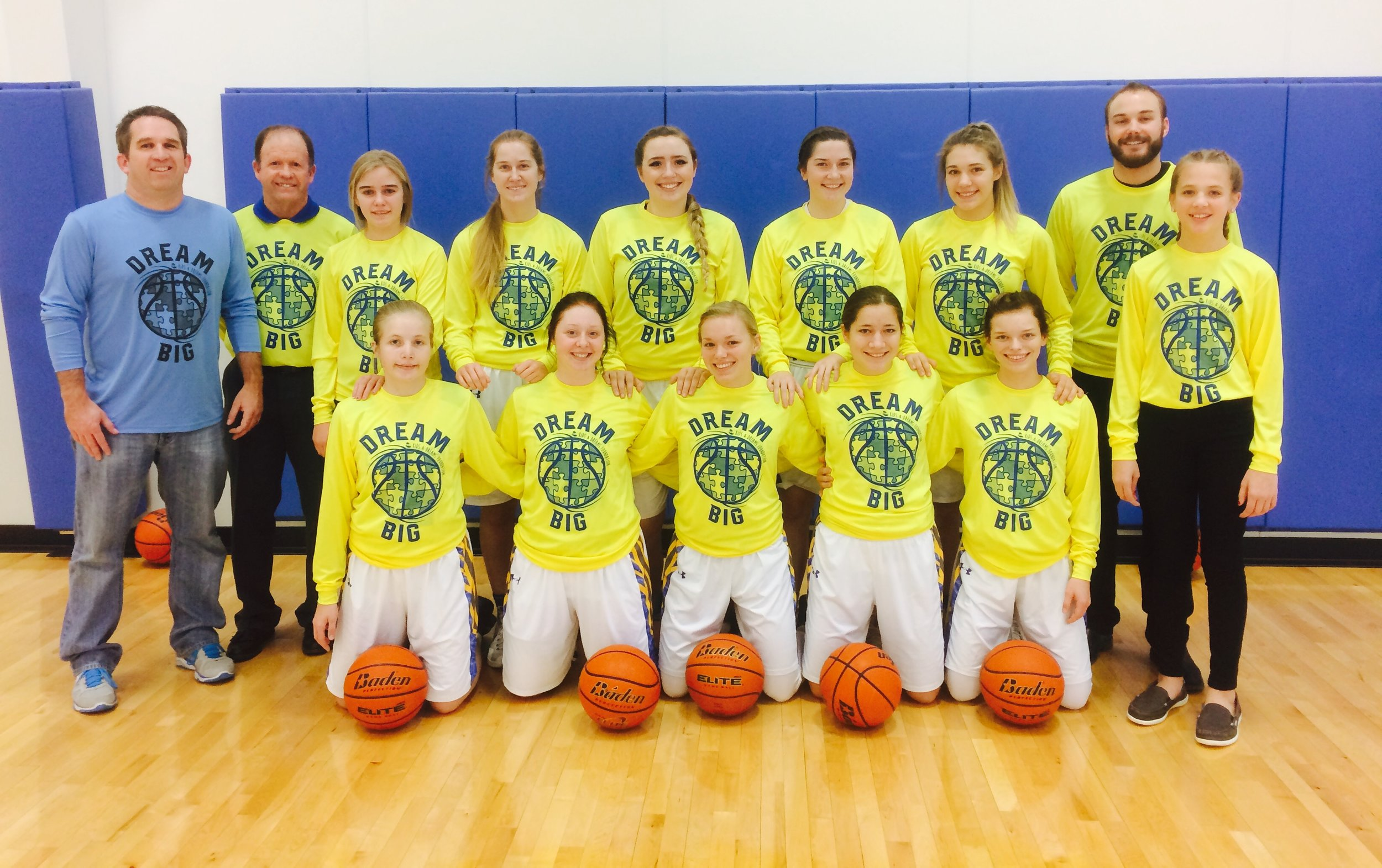 The Riverside girl's team helping us spread awareness. Thanks so much Chargers!! Good luck the rest of the season!