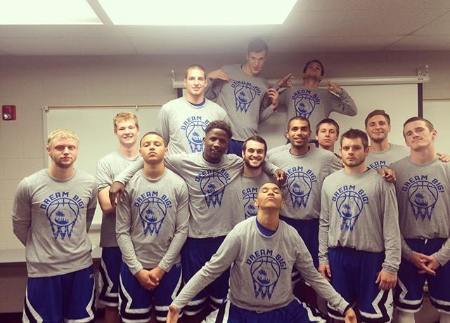 """Ozark Christian College Ambassadors rocking the """"Dream Big"""" shirts during the 2015-2016 season. Thanks for the support."""