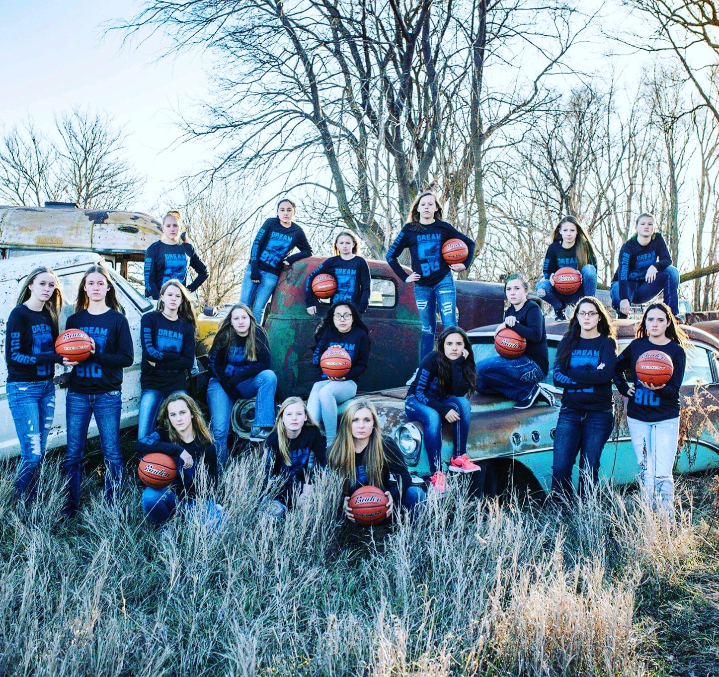 The Shelton Jr. High girl's basketball team wore our Dream Big shirts during their season! Thanks so much to the Bulldogs for the support! Congrats on a great season!