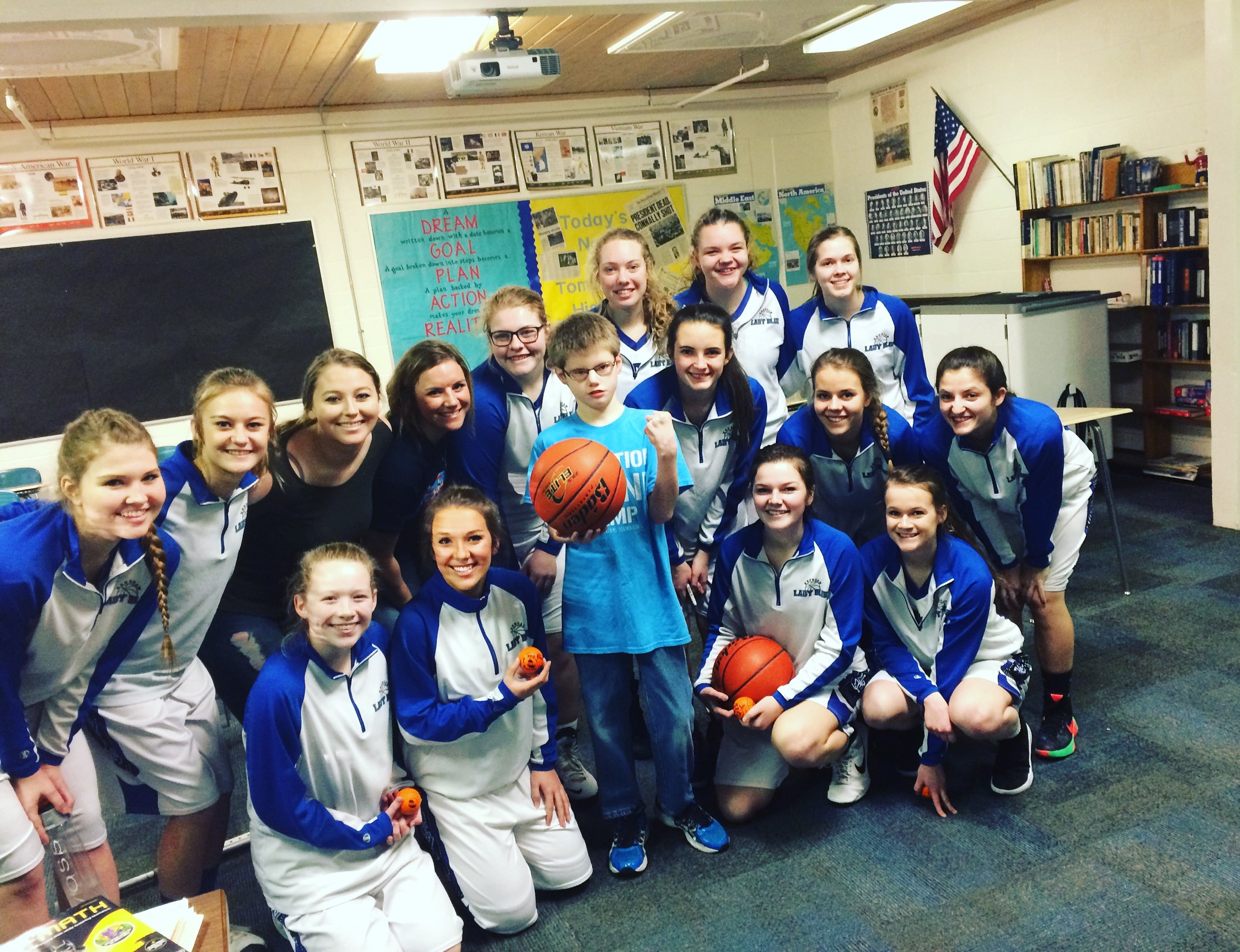 The Kenesaw Blue Devils had us over for an outing last season. Trae and I even got to speak to the team before the game! Grateful for the support!