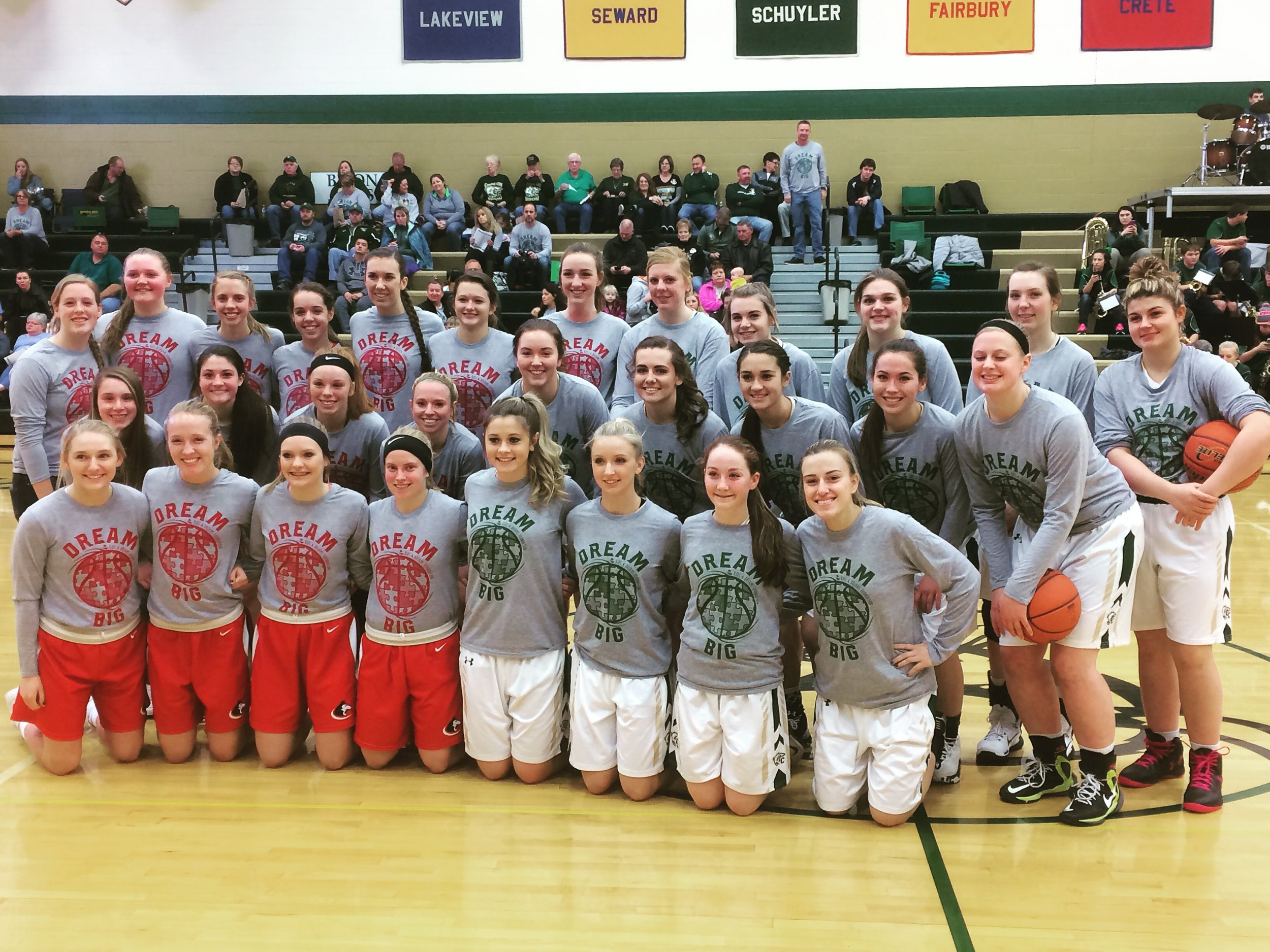 The Aurora vs Central City Awareness Outing was one of our highlights last year as both teams wore our Dream Big shirts to raise awareness. What an awesome night!! Thanks so much to both schools for their support!