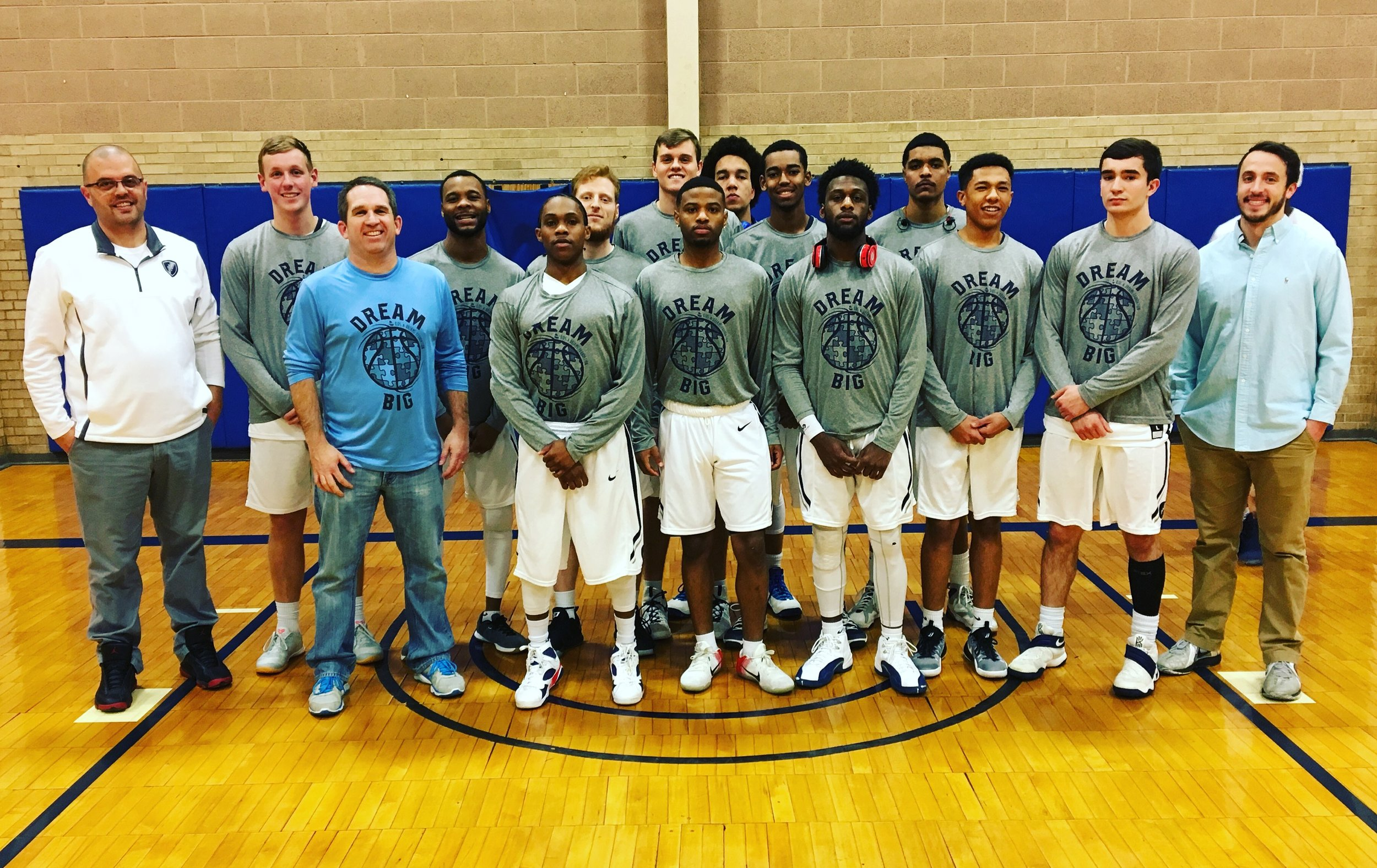 The Manhattan Christian College Thunder wore our shirts last year and had an awareness outing for us. It was a great night! Thanks so much to Coach Condra and his team for their support.