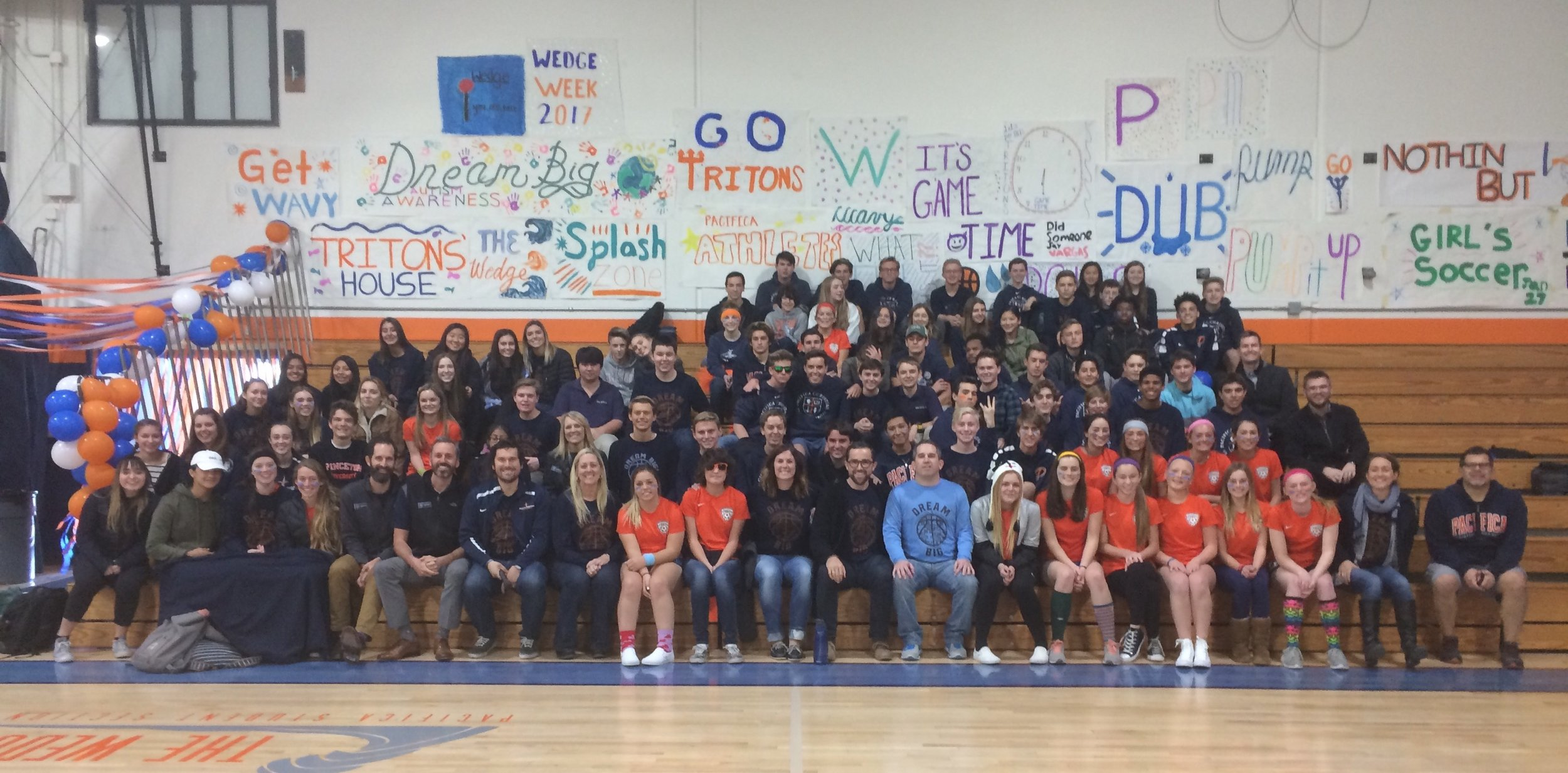 DREAM BIG DAY!!! It was an honor to speak to the students at Pacifica Christian last year during their Wedge Week activities. We are truly grateful for their support and helping us spread awareness!
