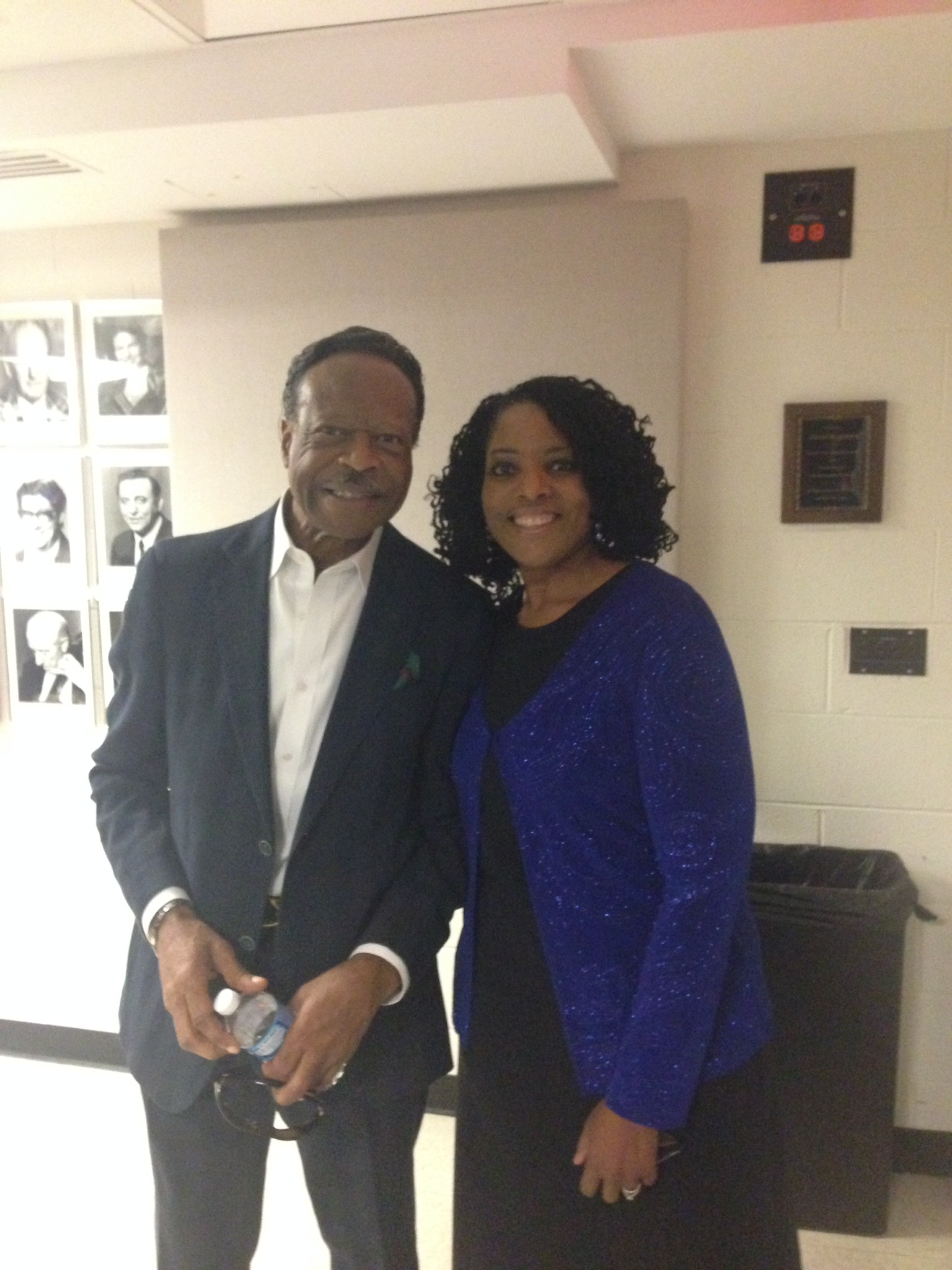 Backstage at he Kennedy Center with Dr. Edwin Hawkins