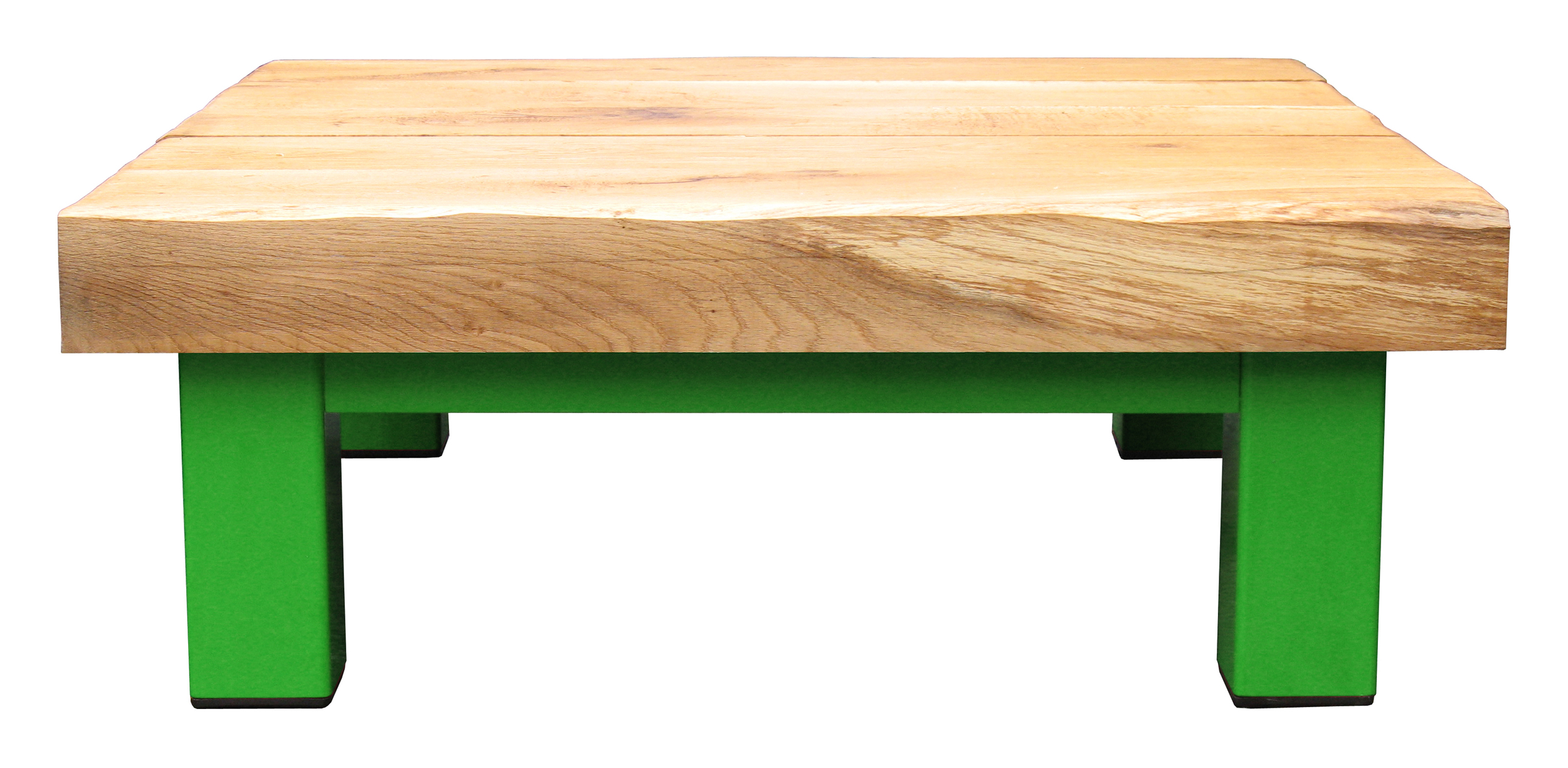 Oak & Iron Furniture Large Coffee Table - Light Green