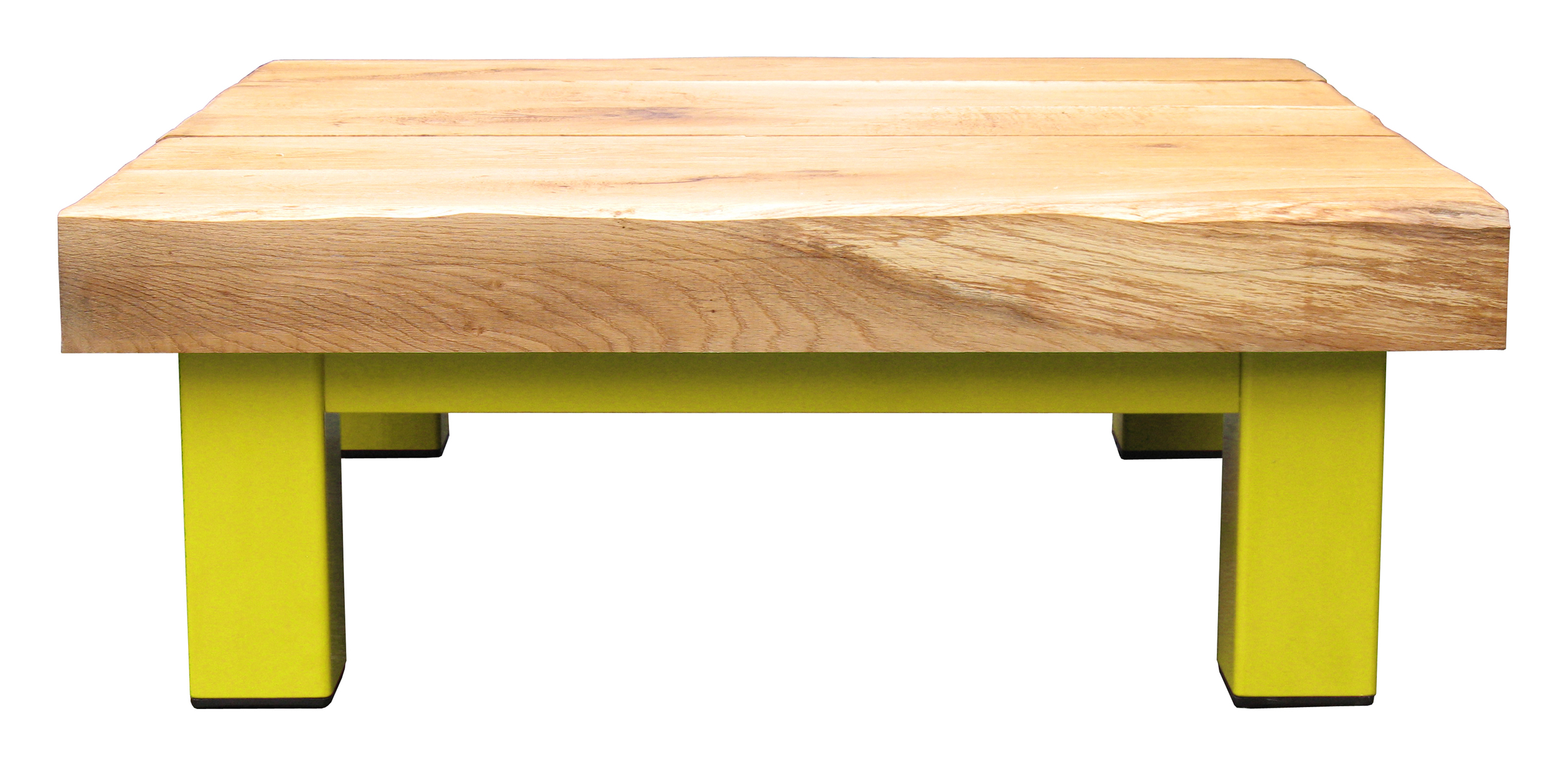 Oak & Iron Furniture Large Coffee Table - Sun Yellow