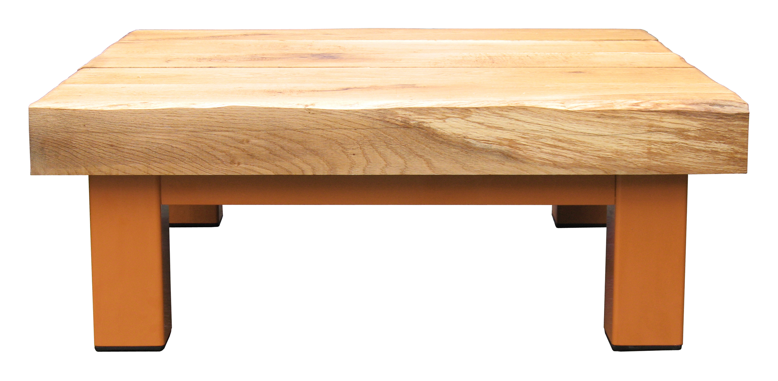 Oak & Iron Furniture Large Coffee Table - Deep Orange