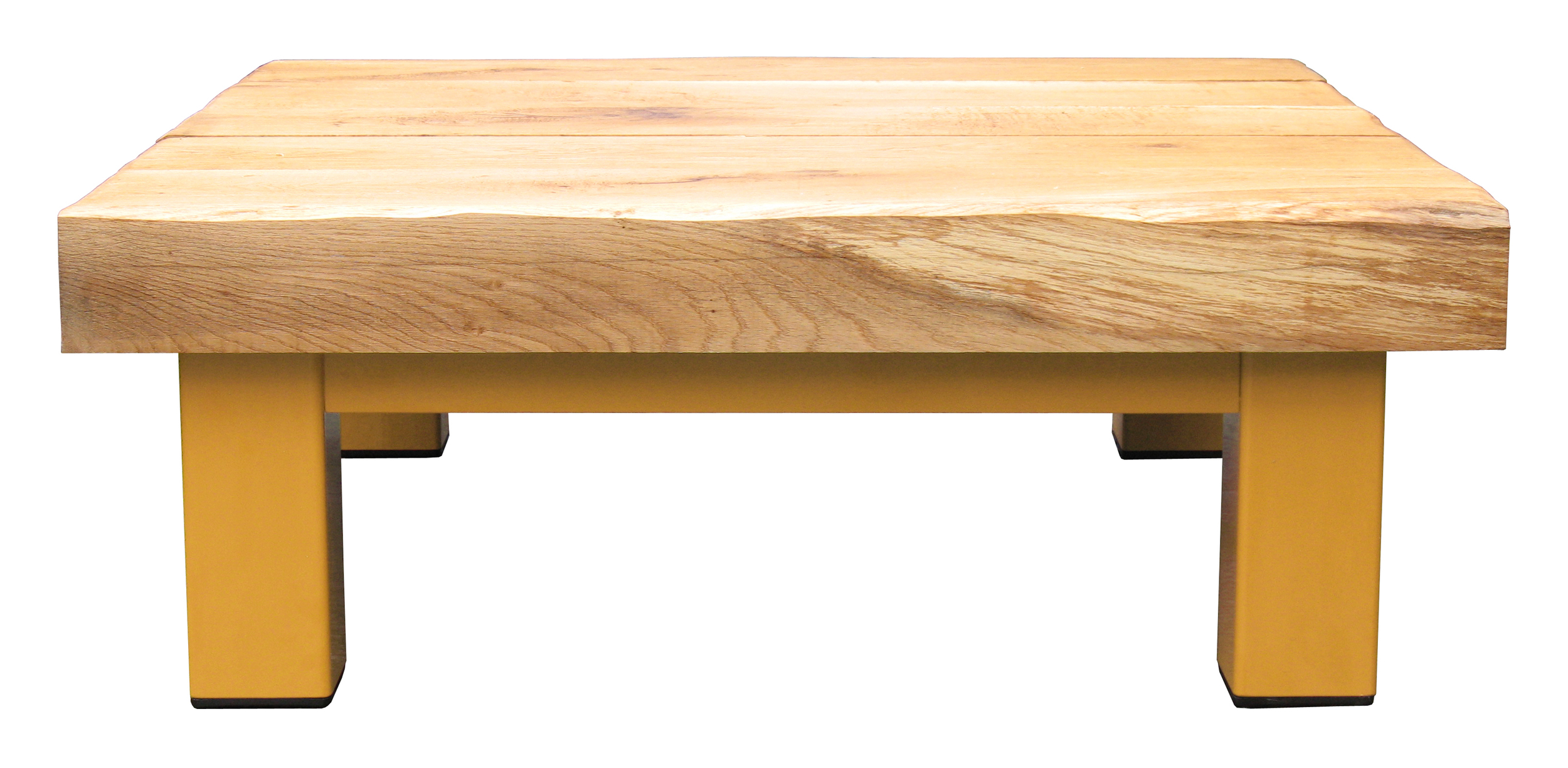 Oak & Iron Furniture Large Coffee Table - Bright Orange