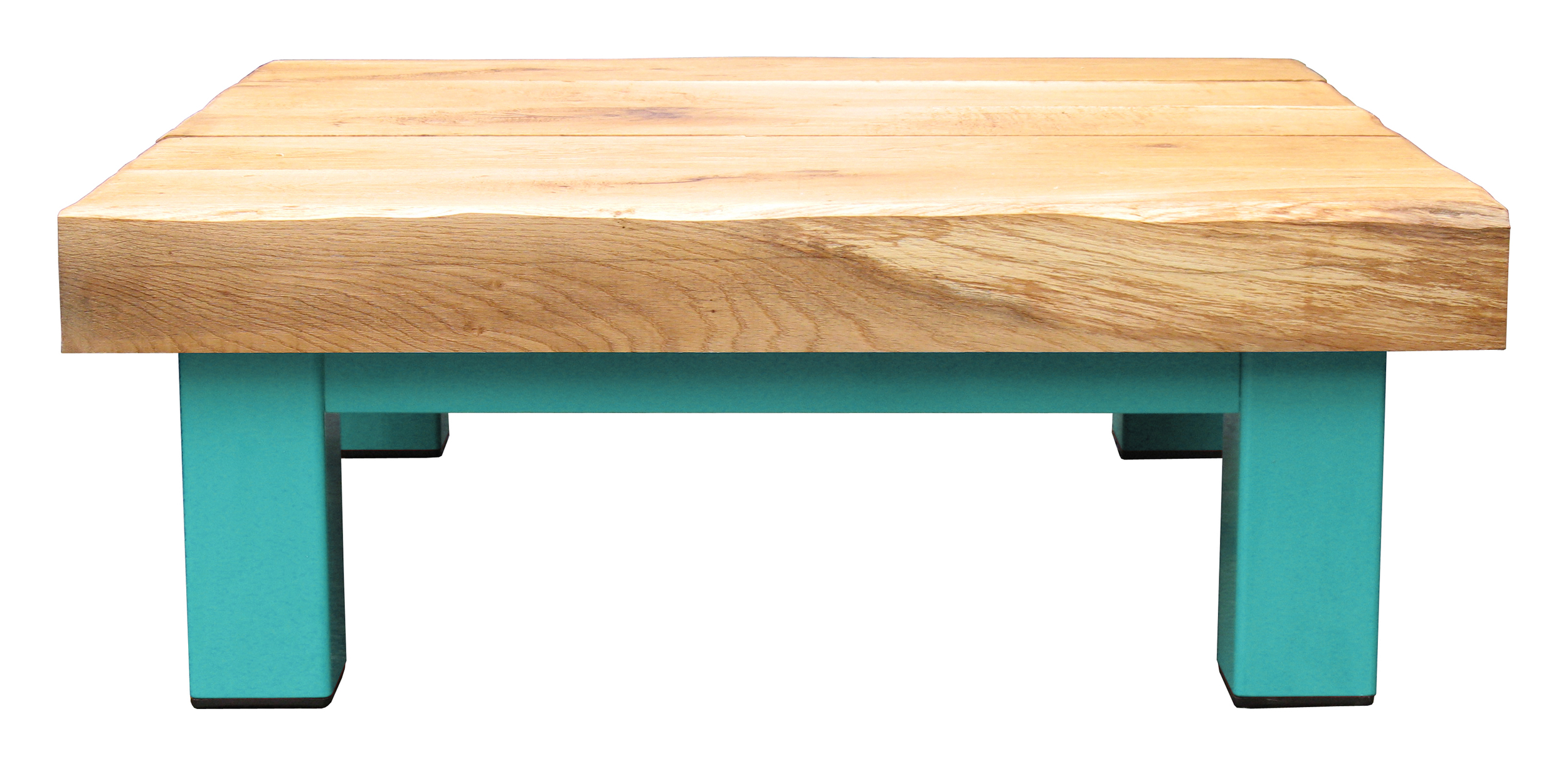 Oak & Iron Furniture Large Coffee Table - Dark Aqua