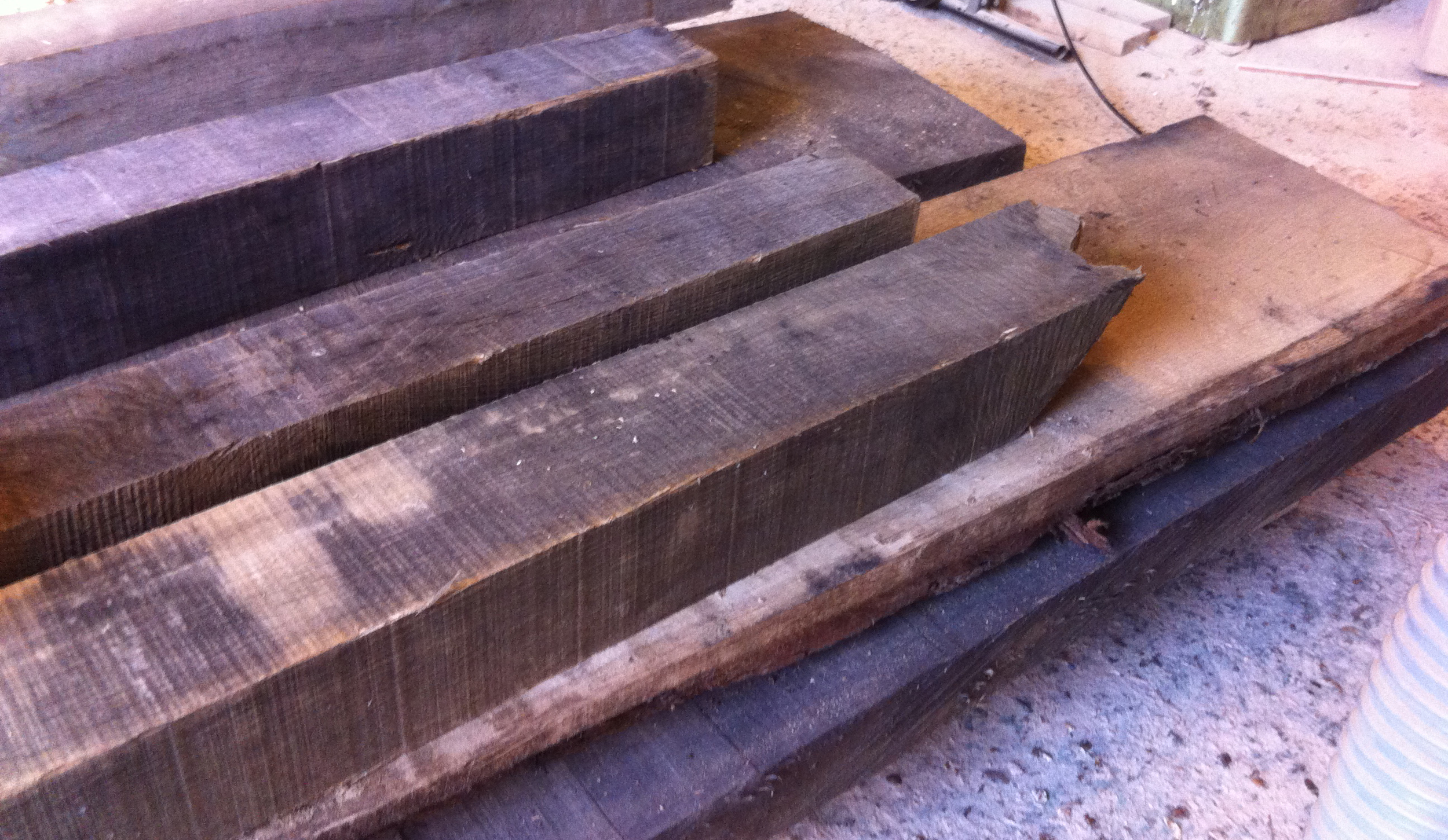 Oak & Iron Furniture Oak before processing