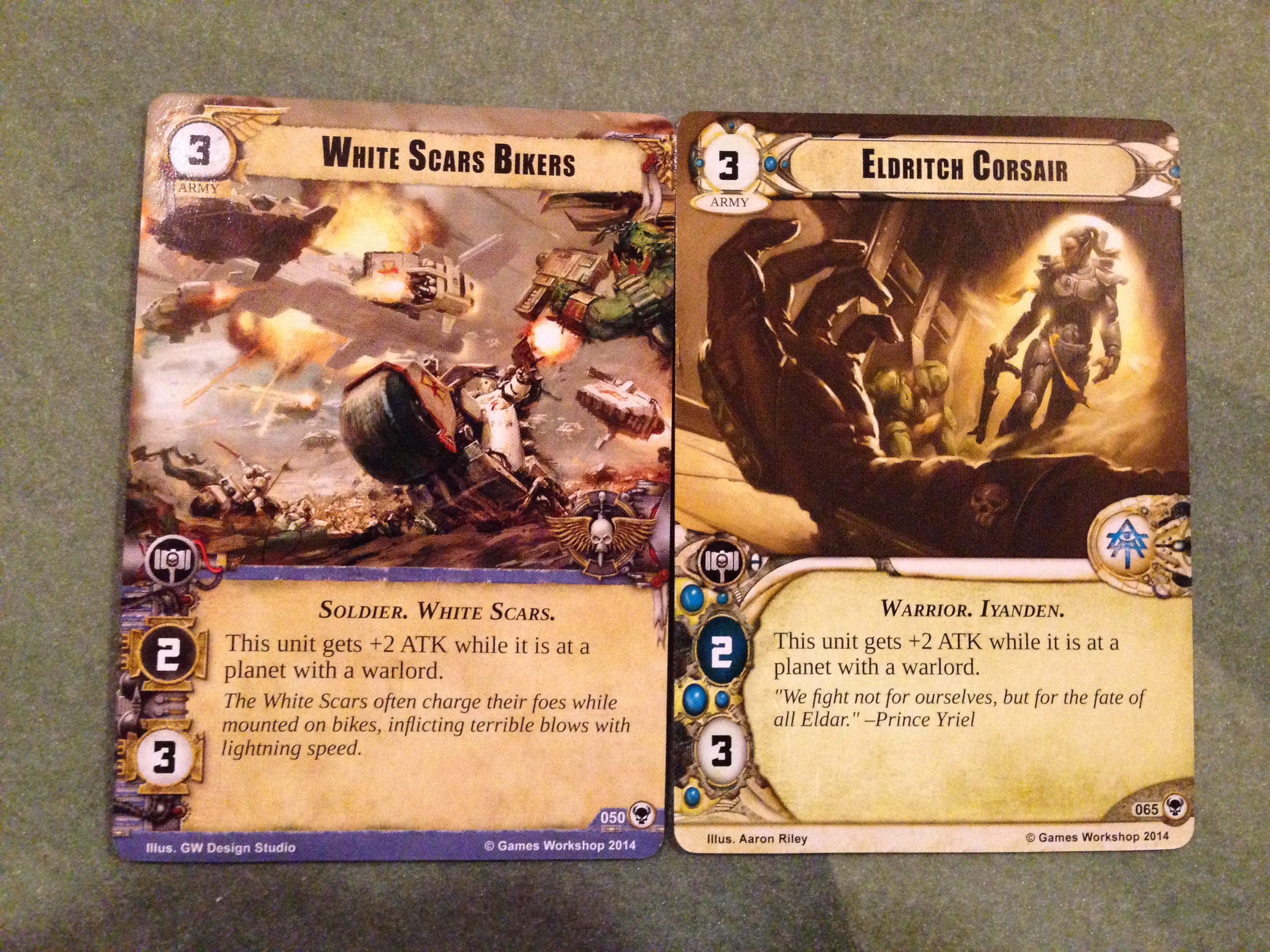 Same Card. Different factions. both awesome.