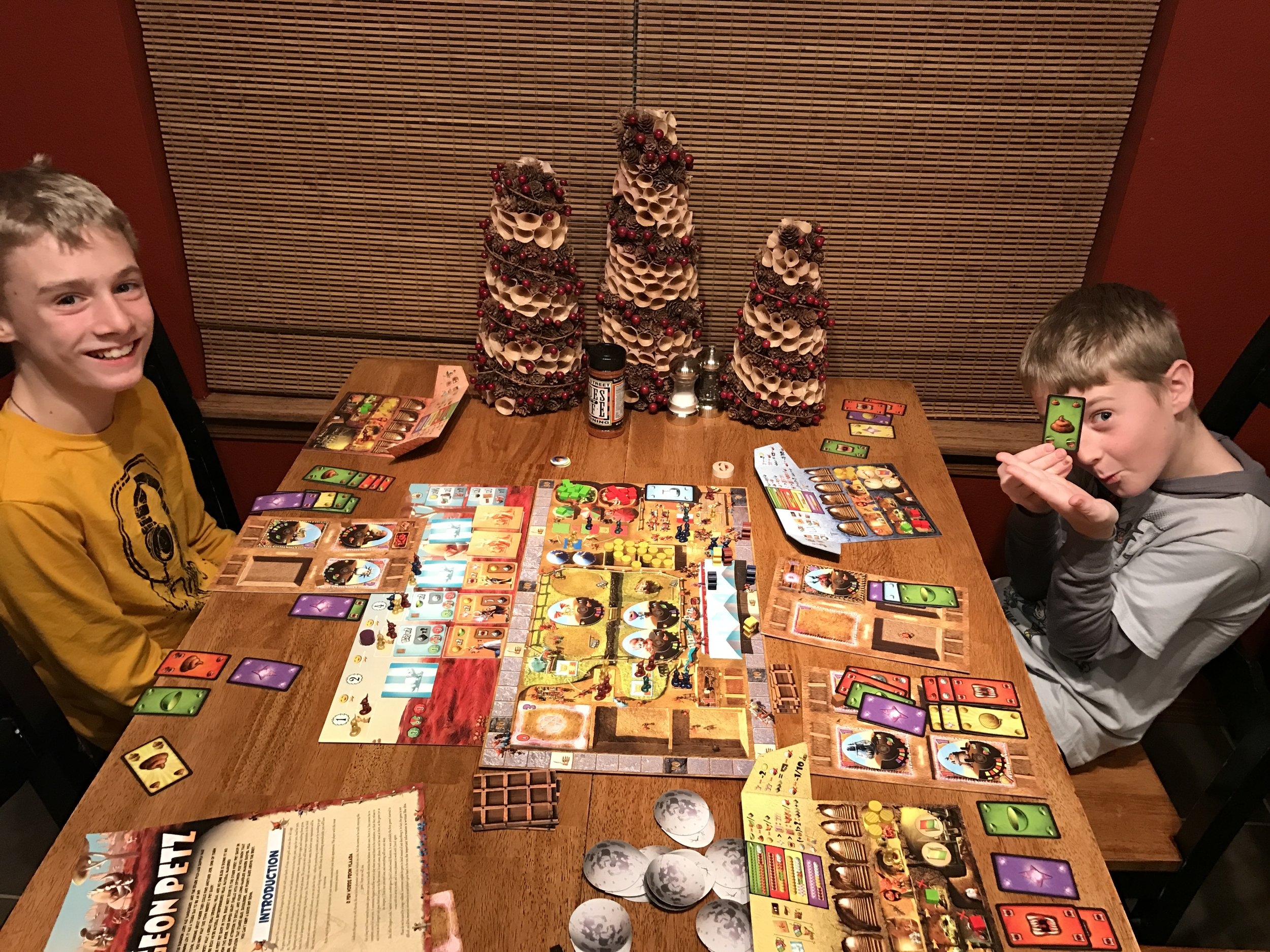 My kids LOVE this game. And Son the Younger is showing his favorite part: The Poop!