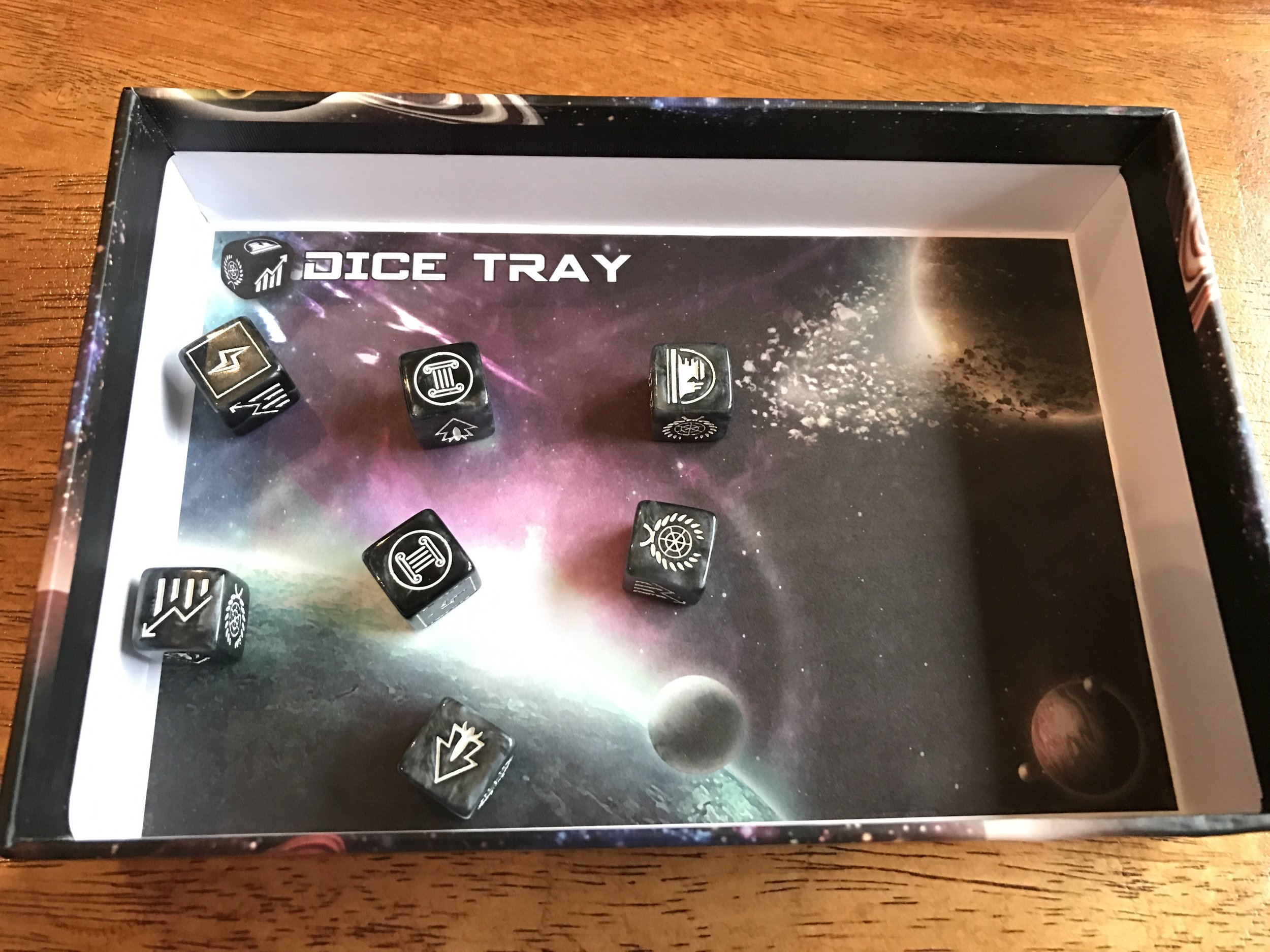 Free dice tray included in every box!