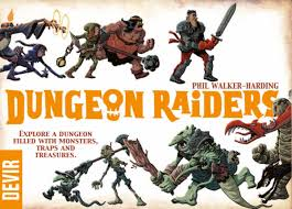 Dungeon Raiders - This is the second edition of Dungeon Raiders, and it's FANTASTIC! A great filler-length dungeon crawler with tons of awesome backstabbing, bluffing, and general distrust of everyone at the table.