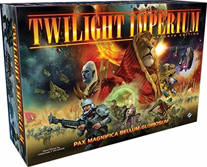 Twilight Imperium - When you want something truly epic, look no further. Galactic races vying for control of the galaxy through politics, warfare, and TECH TREES!