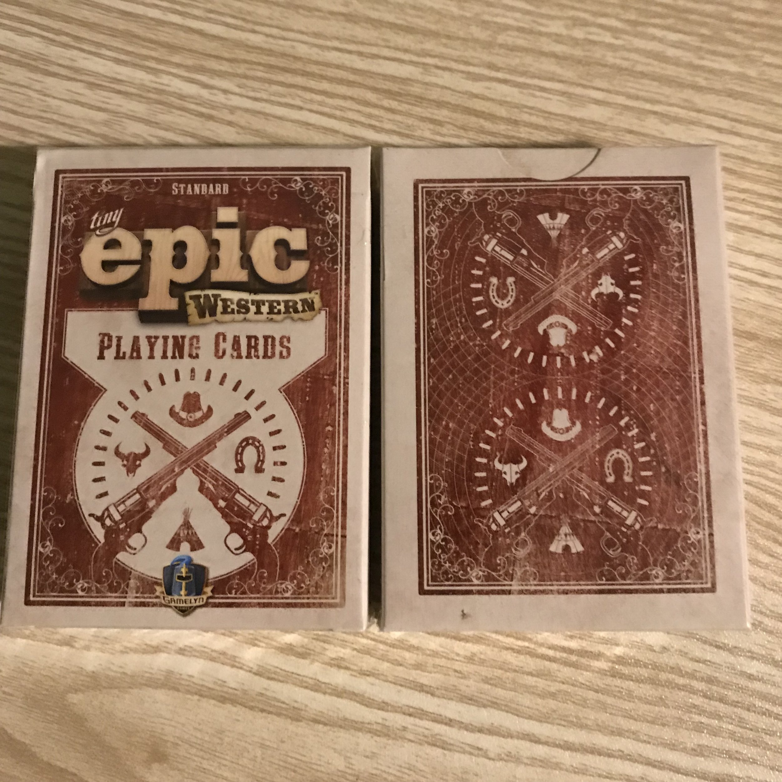 Tiny Epic Western Playing Cards   This is a full deck of playing cards themed after tiny epic western, the hit game from gamelyn games!  -Cost 2 credits