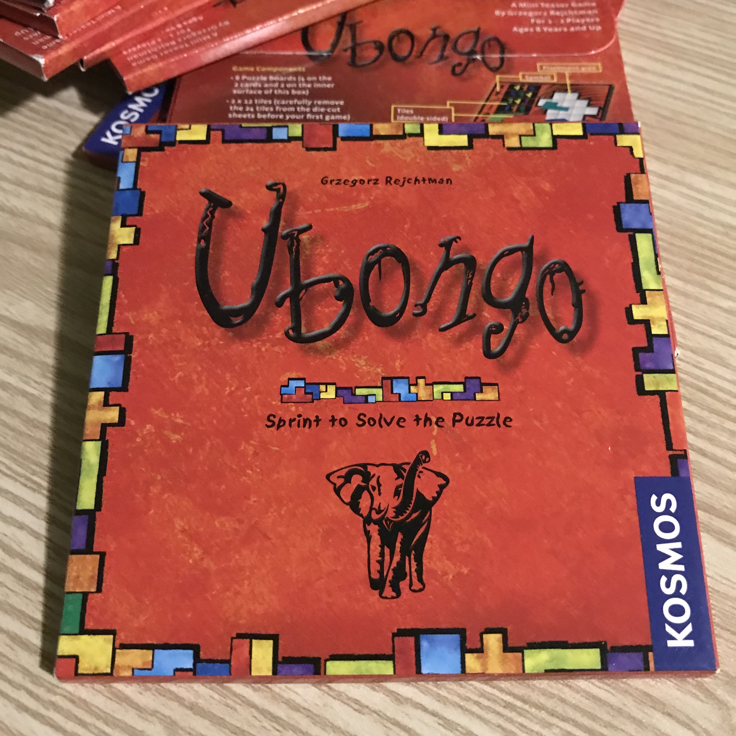 Ubongo Teaser Game   This is really cool! A mini teaser game of Ubongo from Kosmos Games!  -Cost 1 Credit
