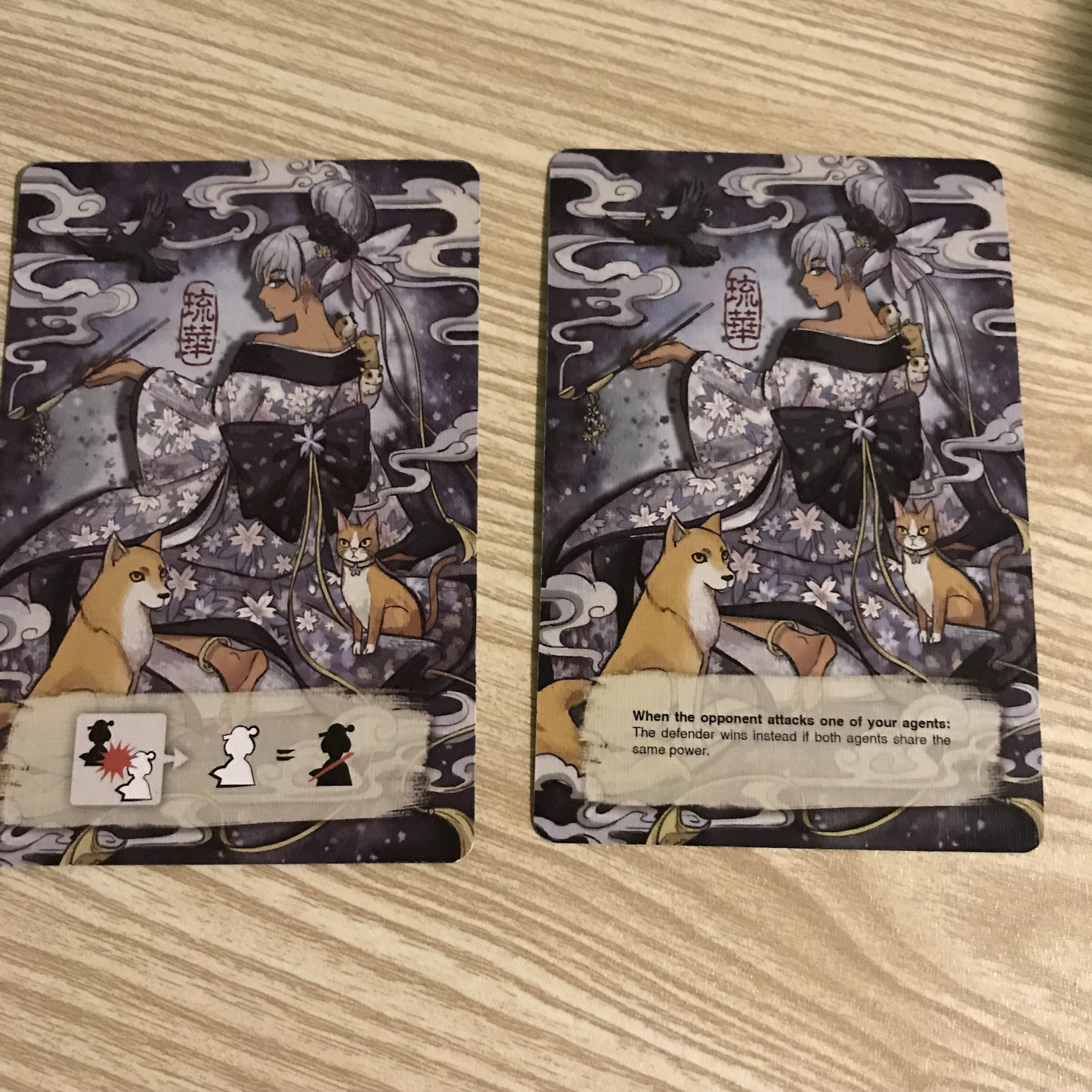 Shadows in Kyoto Promo card   Yet another sweet promo that is typically only available at conventions, this will grant the player a special ability and some sweet alternate art! From Deep Water Games  -Cost 1 Credit