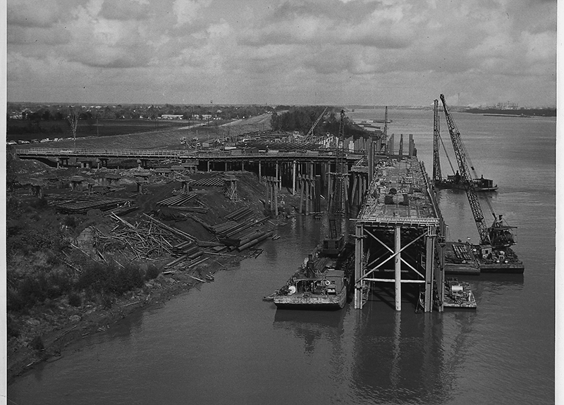 1954 General Cargo Dock No. 1 Under Construction