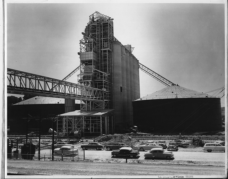1955 Completion of Grain Elevator
