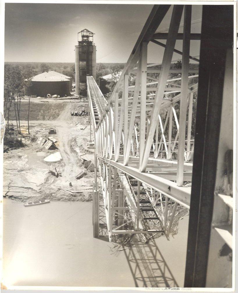 1955 Grain Elevator Dock Completed