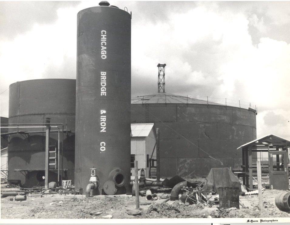 1955 Molasses Storage Tanks