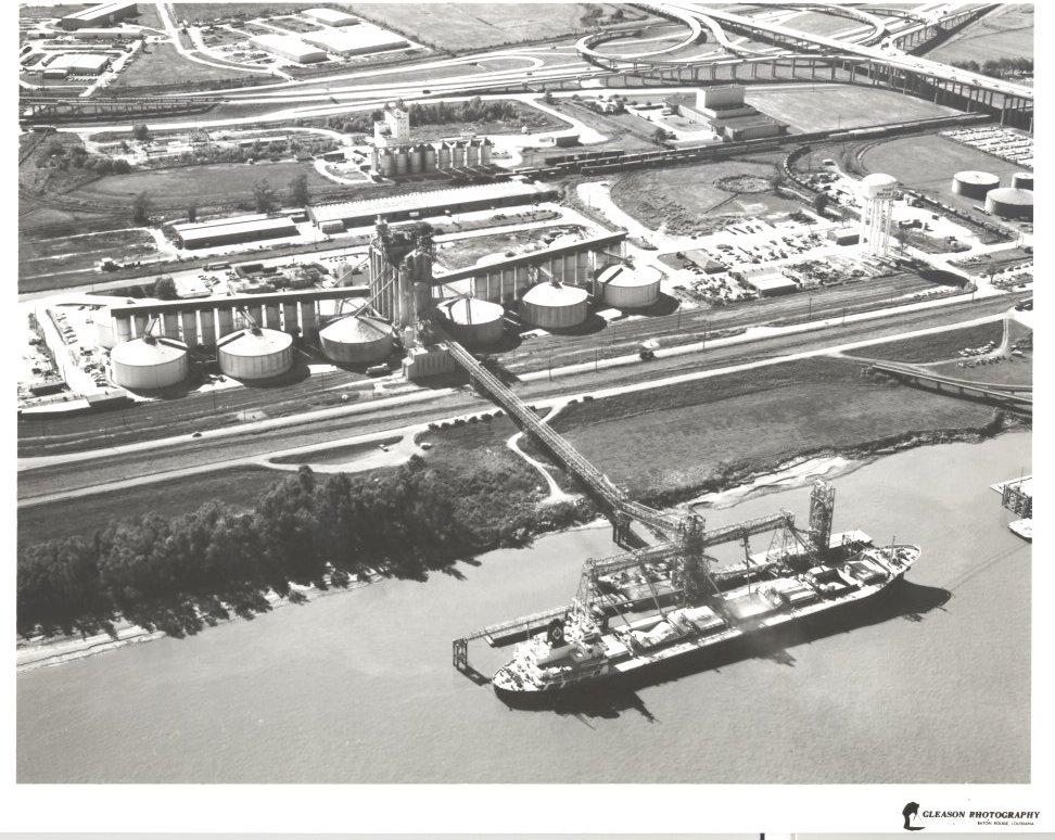 1960 Grain Elevator Ship Loading