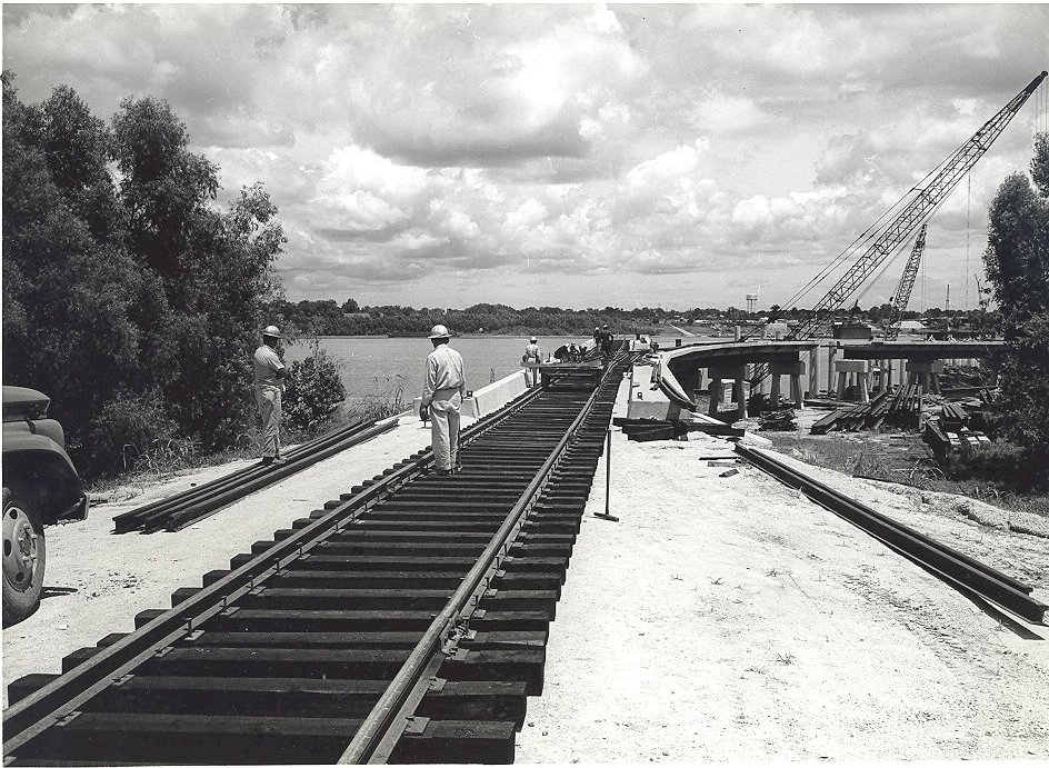 1964 Laying of Track on the General Cargo Dock