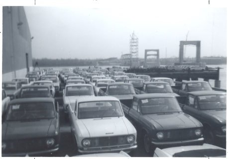 1966 Unloading Imported Cars