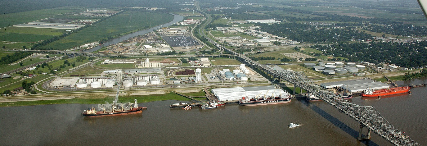 Aerial View of Port Facilities