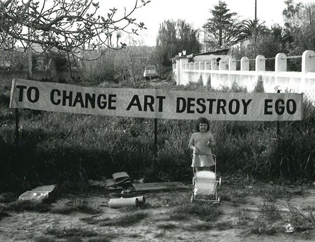 👁 Ben Vautier, To Change Art Destroy Ego, 1965